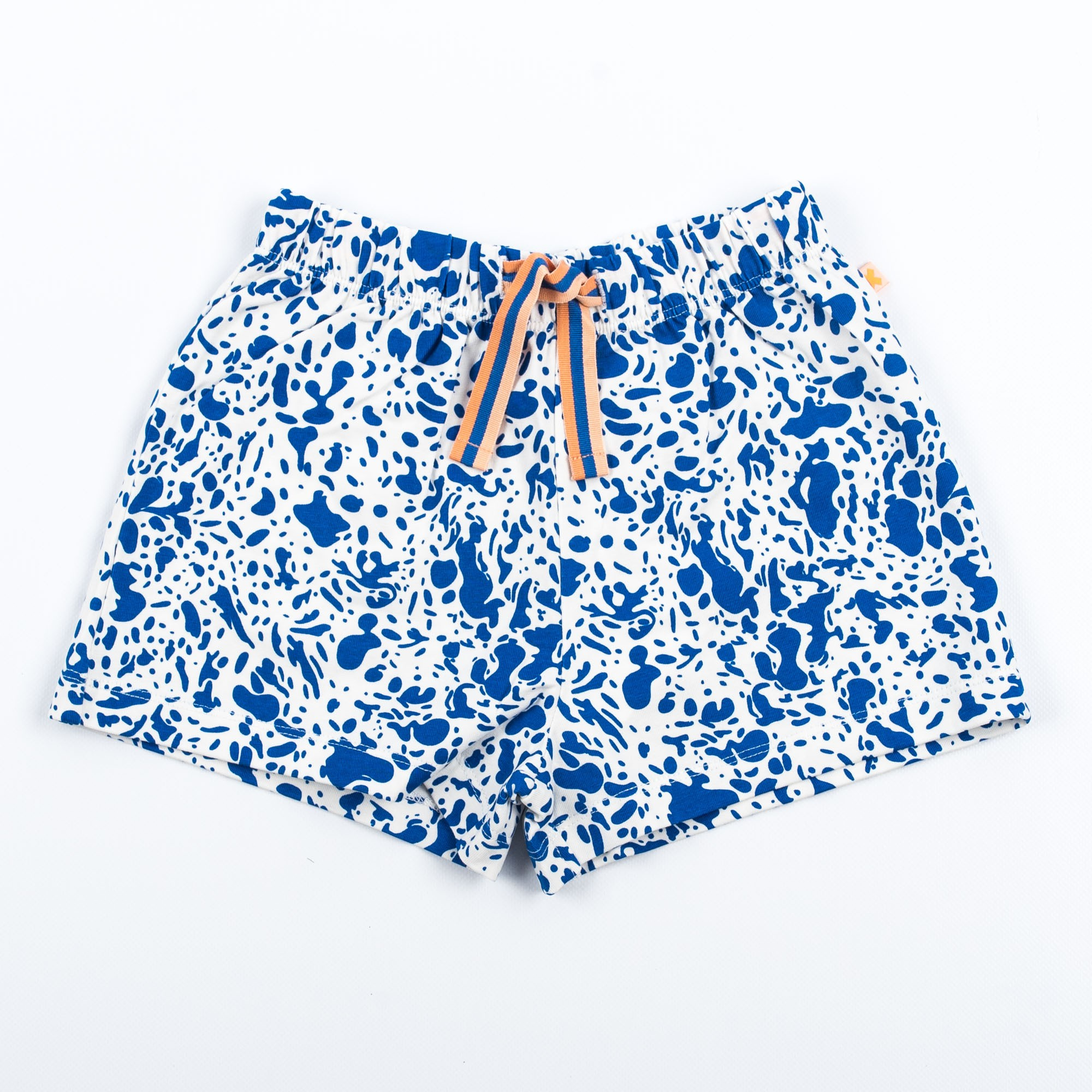 Tinycottons Off-White Shorts with Blue Speckles | littlehipstar.com