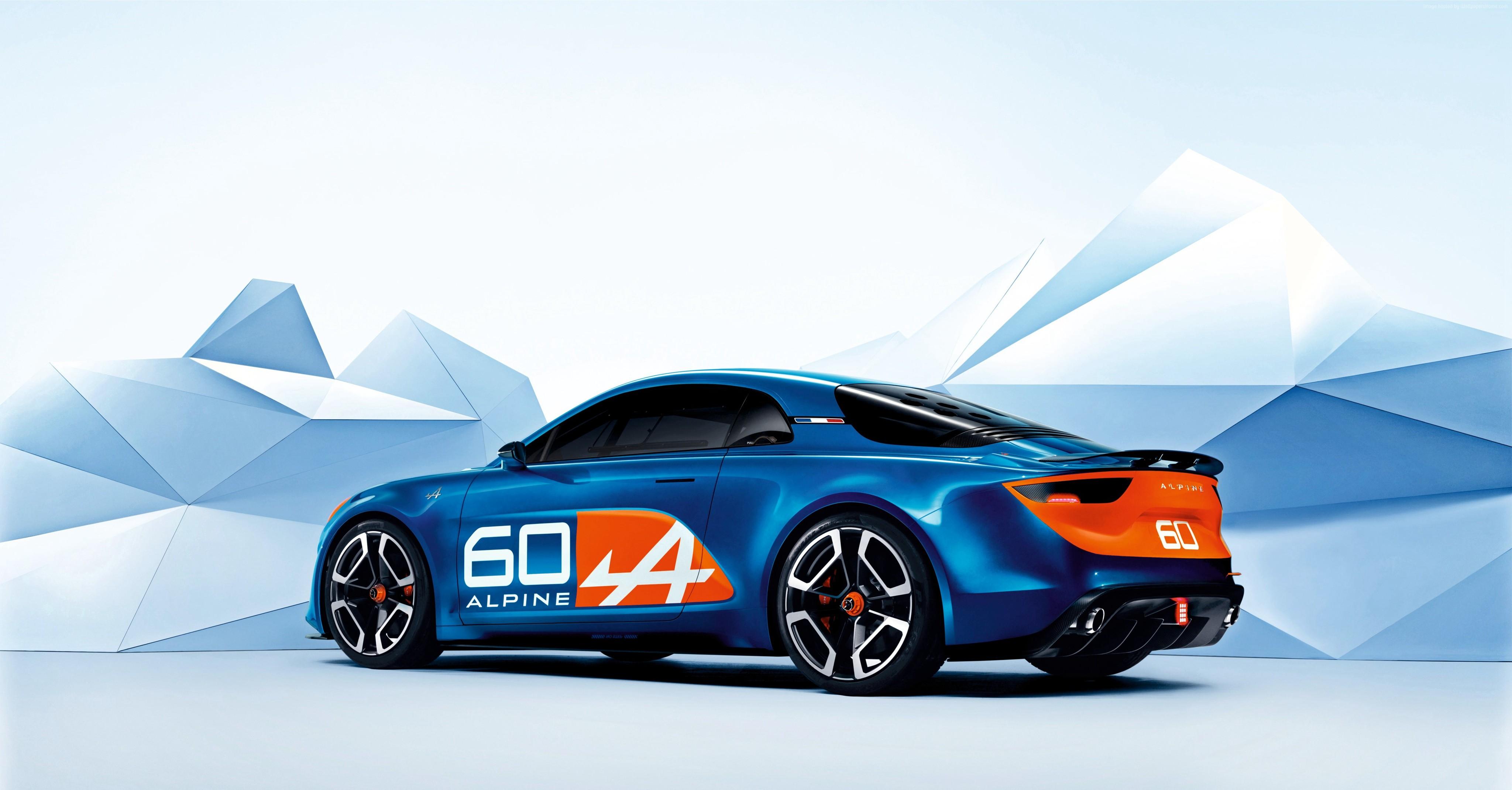 Wallpaper Renault Alpine Celebration, concept, renault, blue, sports ...