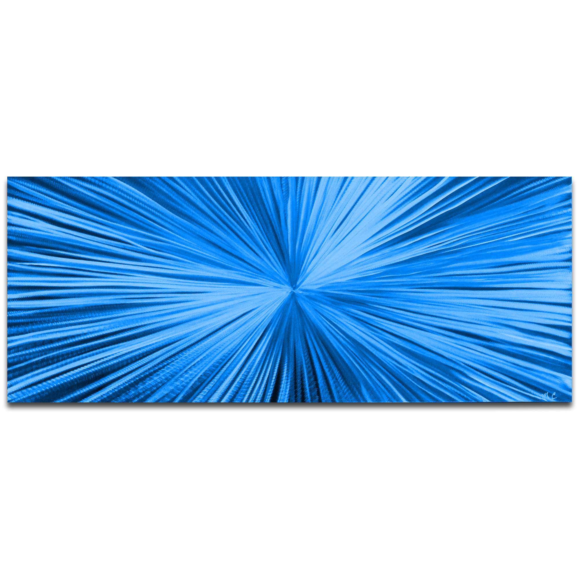 Metal Art Studio - Starburst Blue by Helena Martin - Original ...