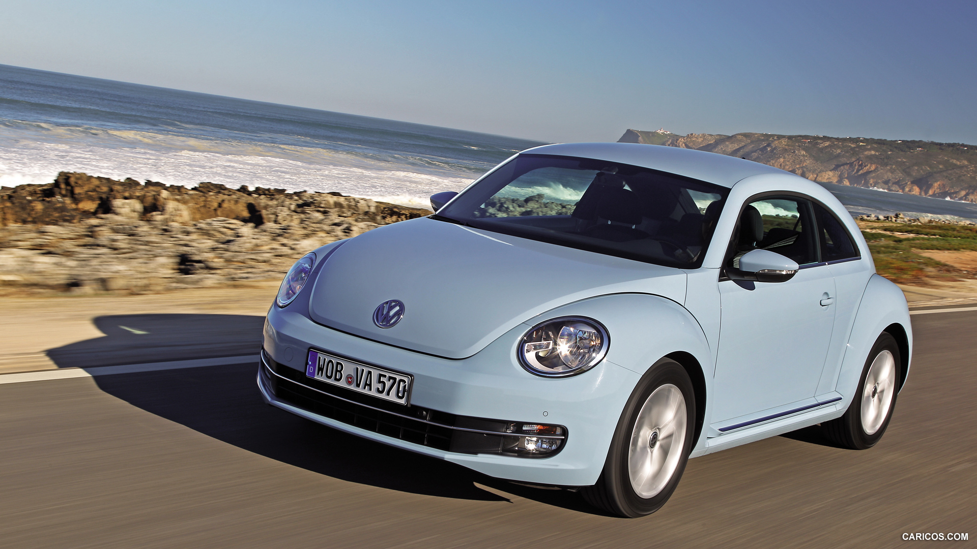 2012 Volkswagen Beetle Light Blue - Front | HD Wallpaper #89
