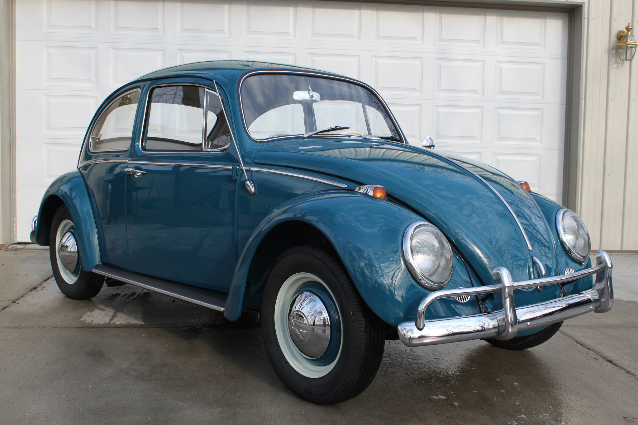 vw beetle blue | Drew Walker dot com