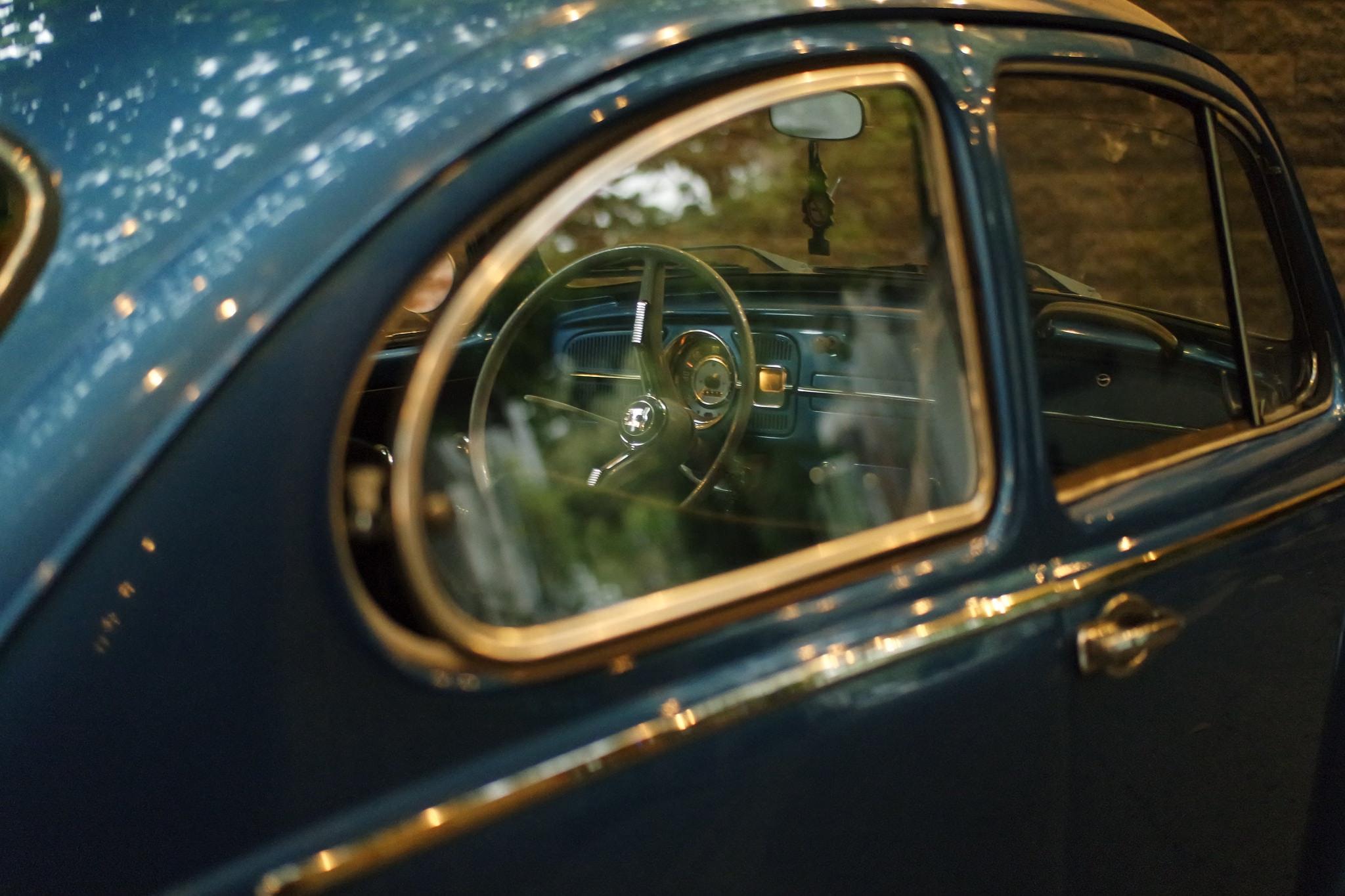 Blue Volkswagen Beetle, Blue, Car, Classic car, Dashboard, HQ Photo