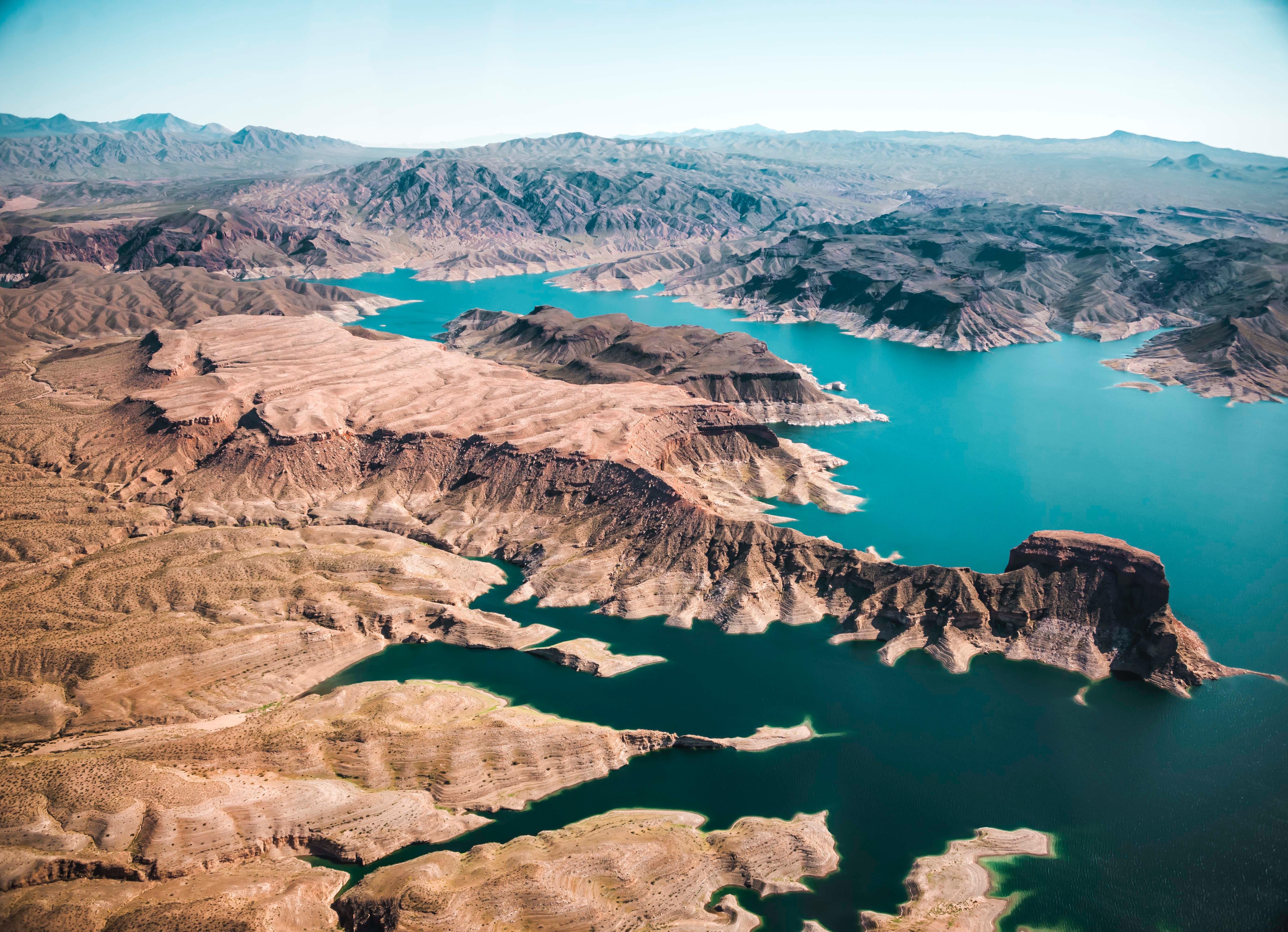 Blue Water, Blue, Landscape, Nature, Rock, HQ Photo