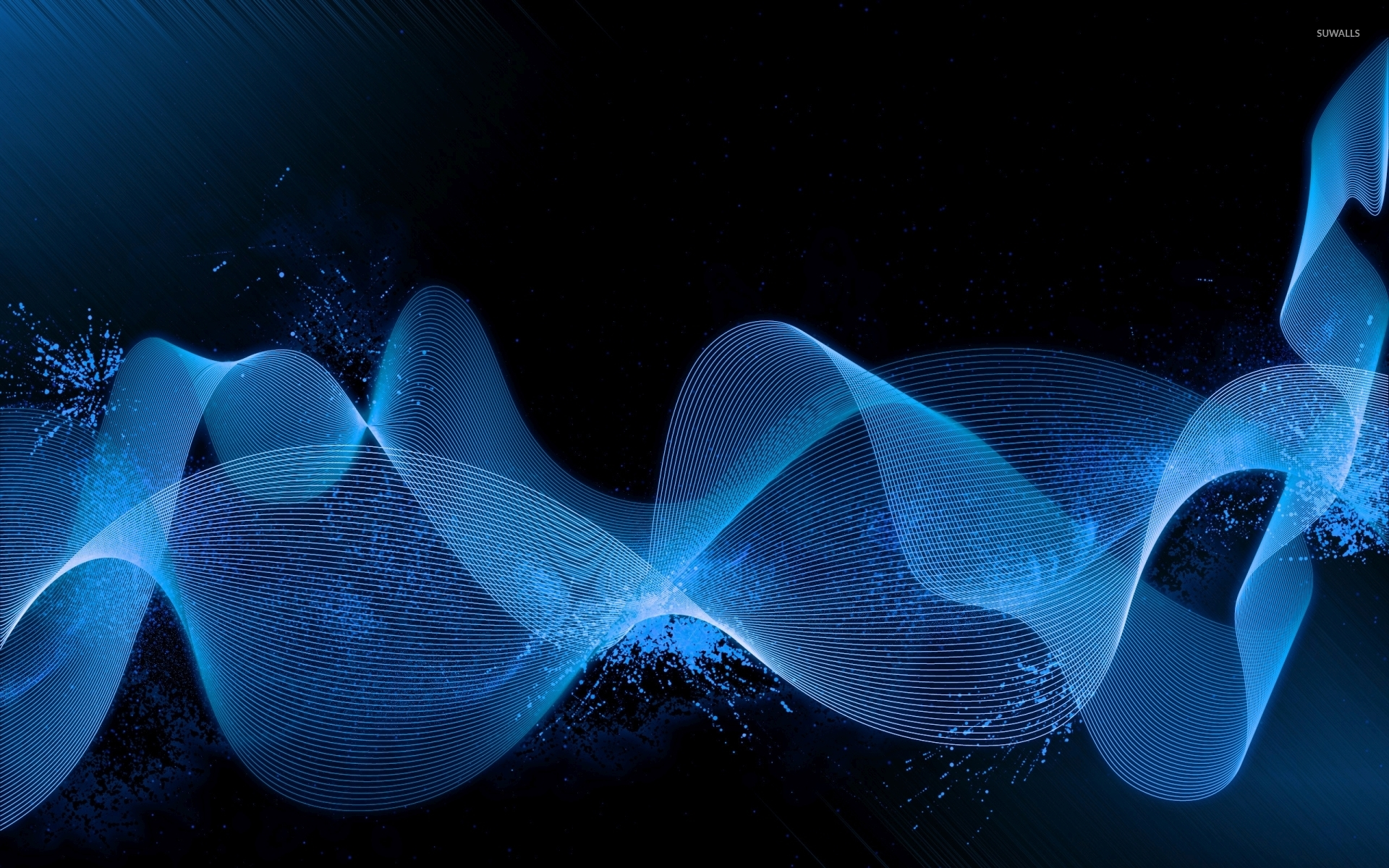 Blue waves wallpaper - Abstract wallpapers - #42756