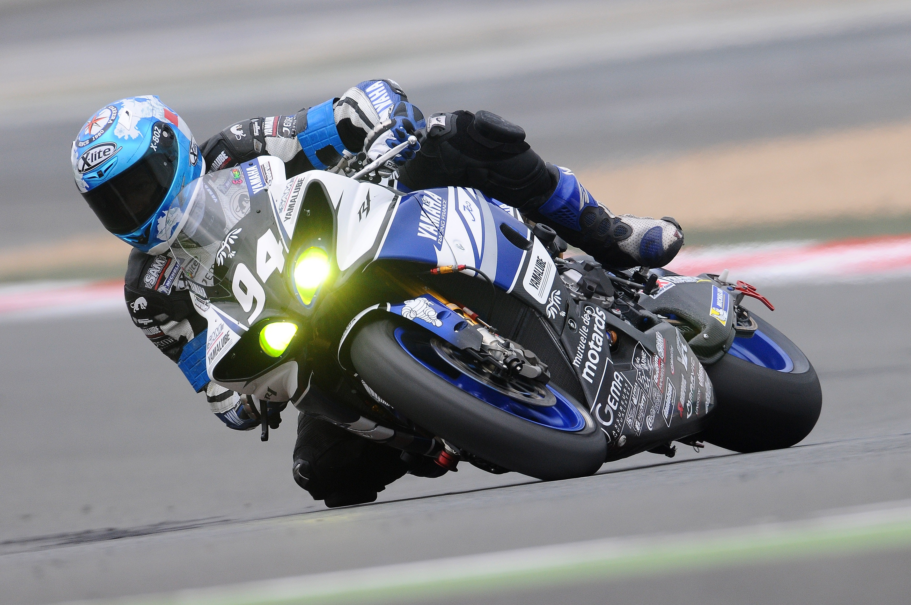 Blue Yamaha R1, Bike, Biker, Motorbike, Race, HQ Photo