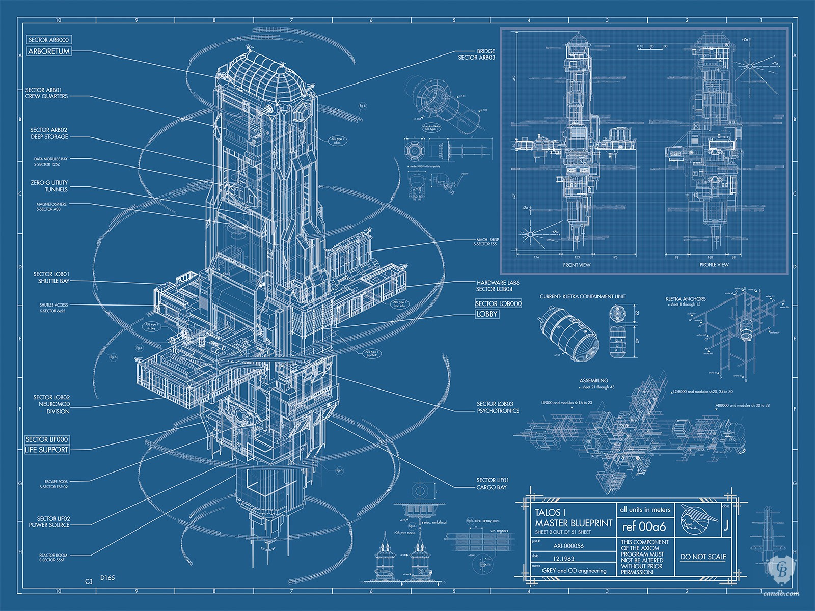 Artwork Talos I Master Blueprint - Prey Arkane Studios