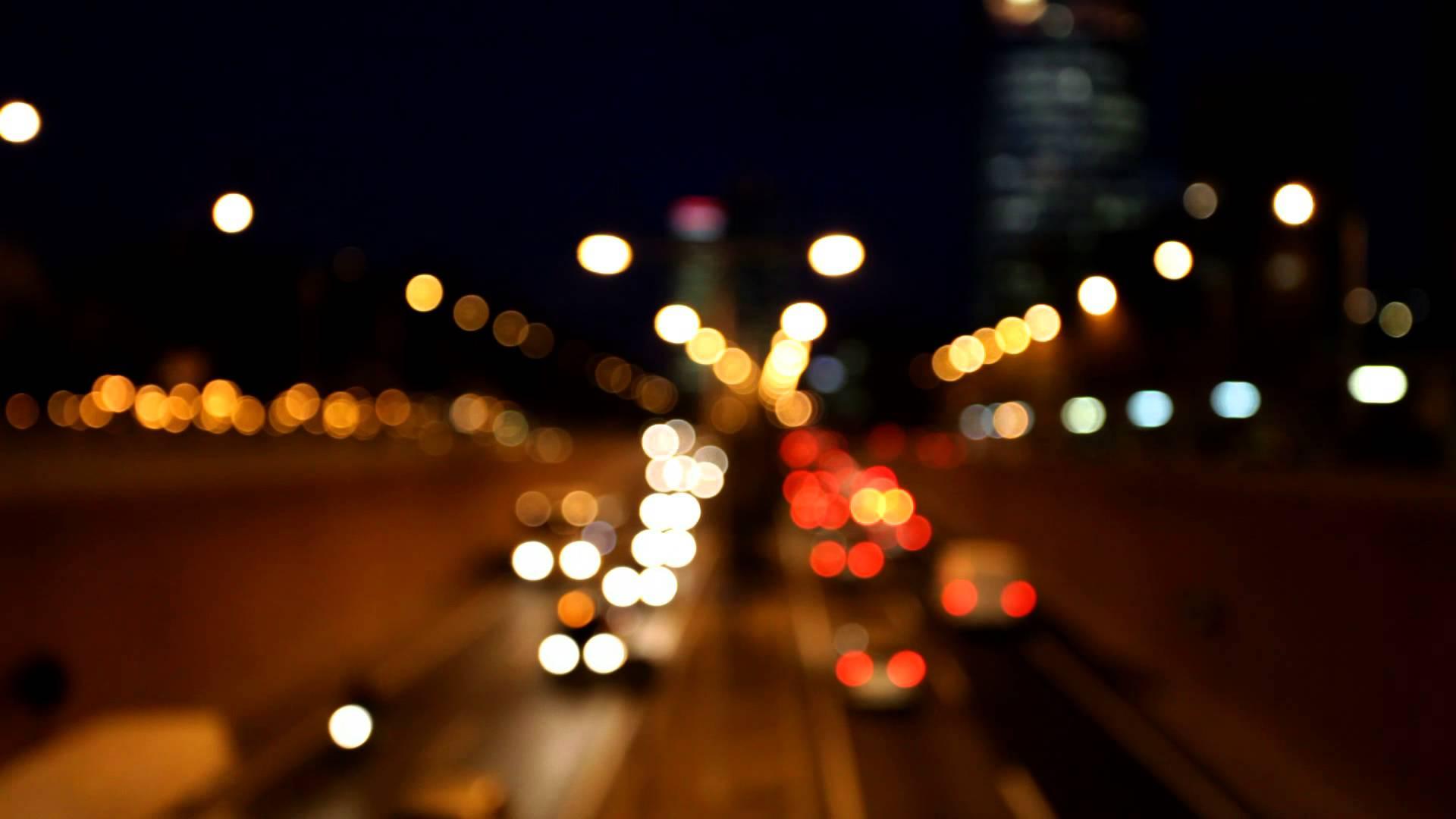 blurred car traffic lights - YouTube