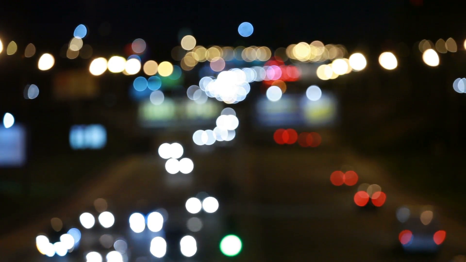 Evening traffic. The city lights. Motion blur. Abstract background ...