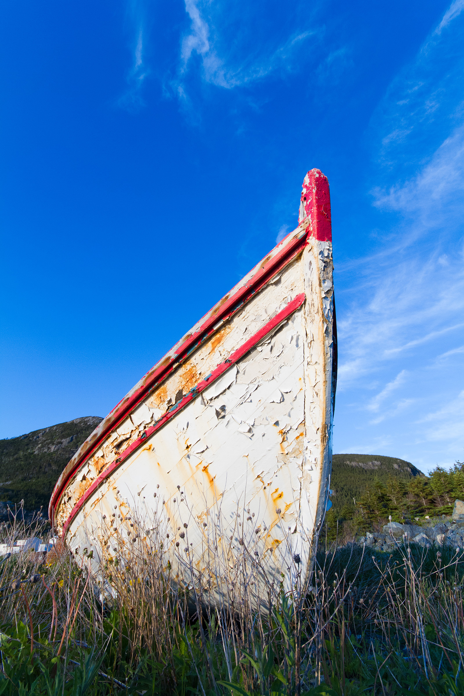 Boat and blue sky, Beautiful, Transport, Sky, Summer, HQ Photo