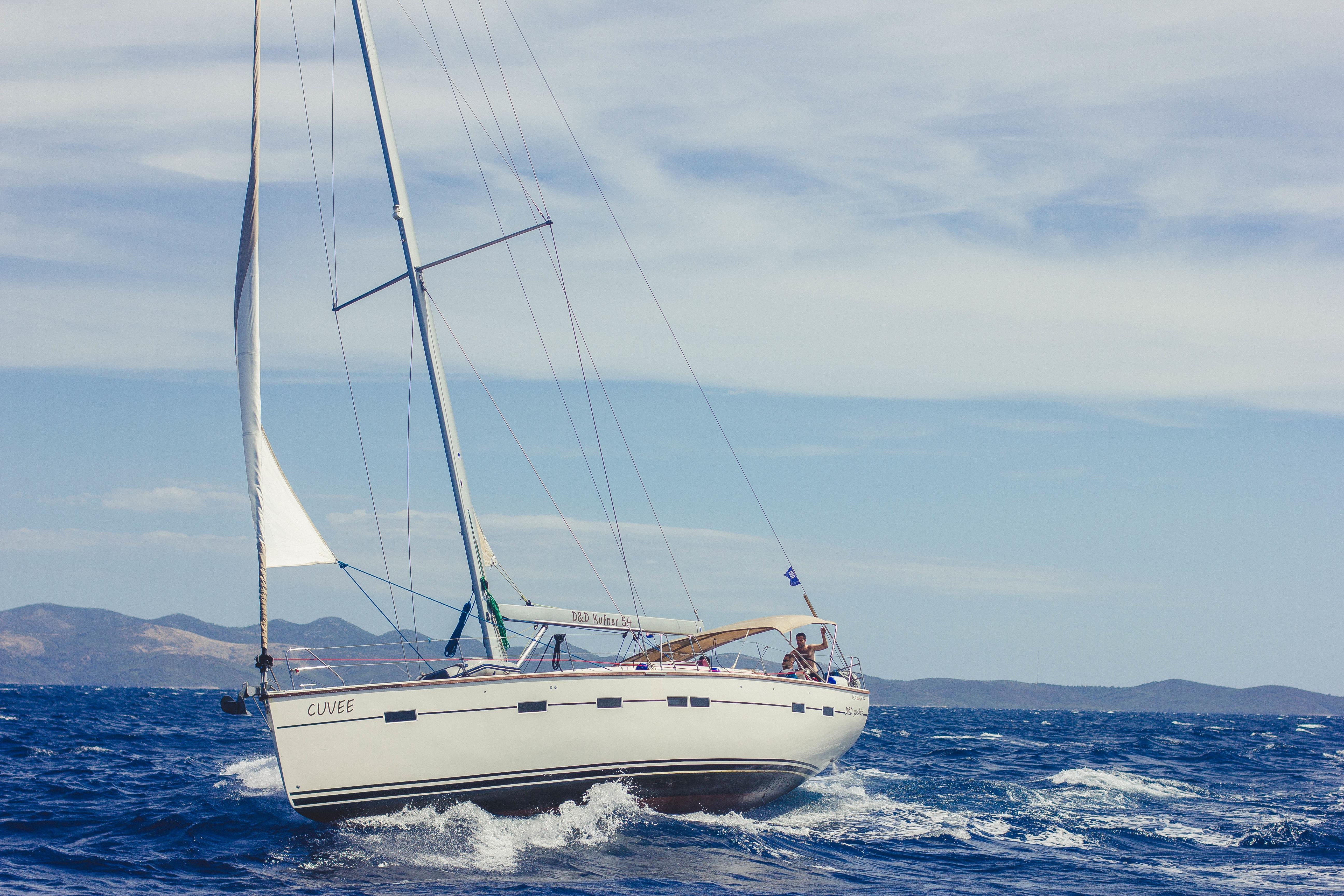 Picalls.com | Sailing boat at sea by Luka Radikovic.