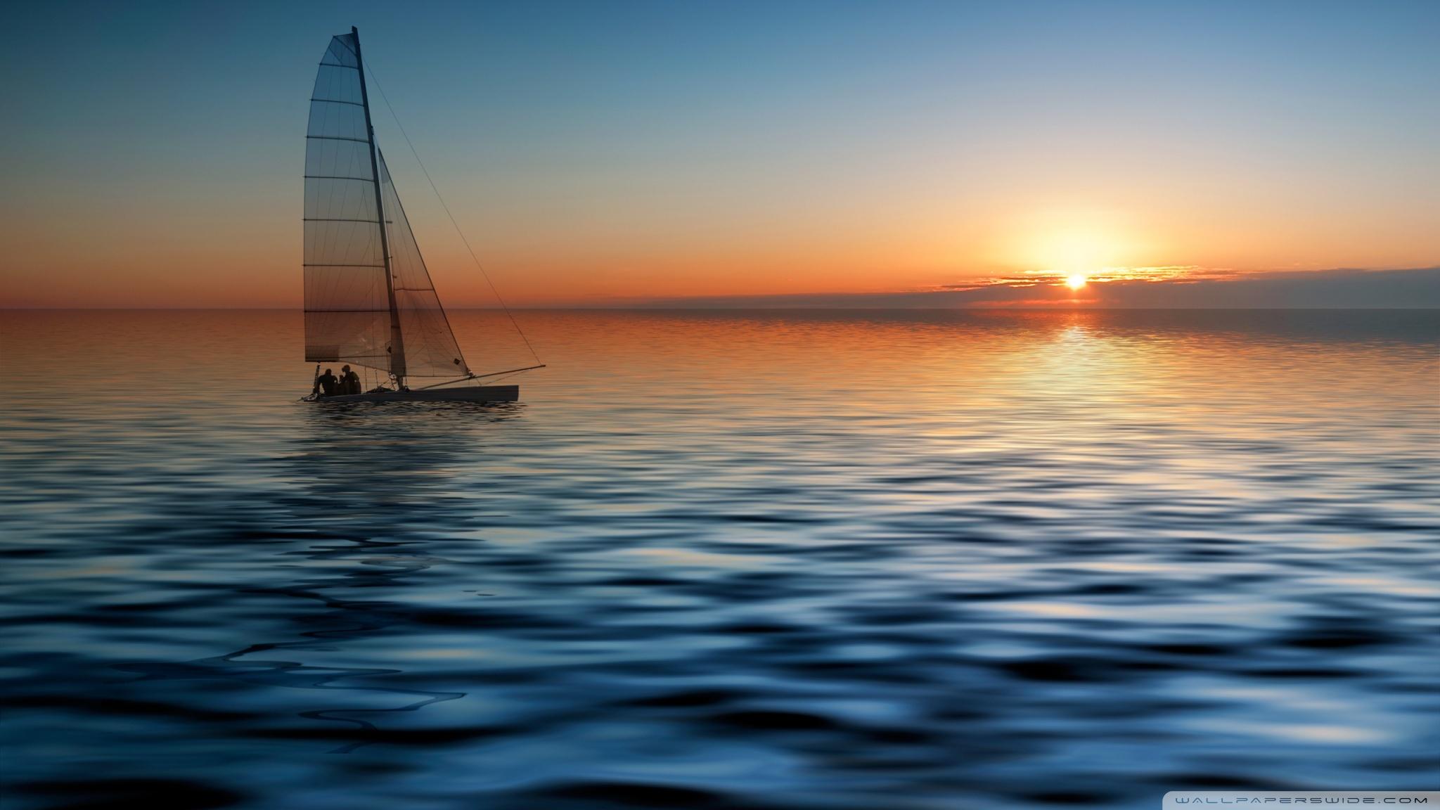 Boat At Sea ❤ 4K HD Desktop Wallpaper for 4K Ultra HD TV • Wide ...