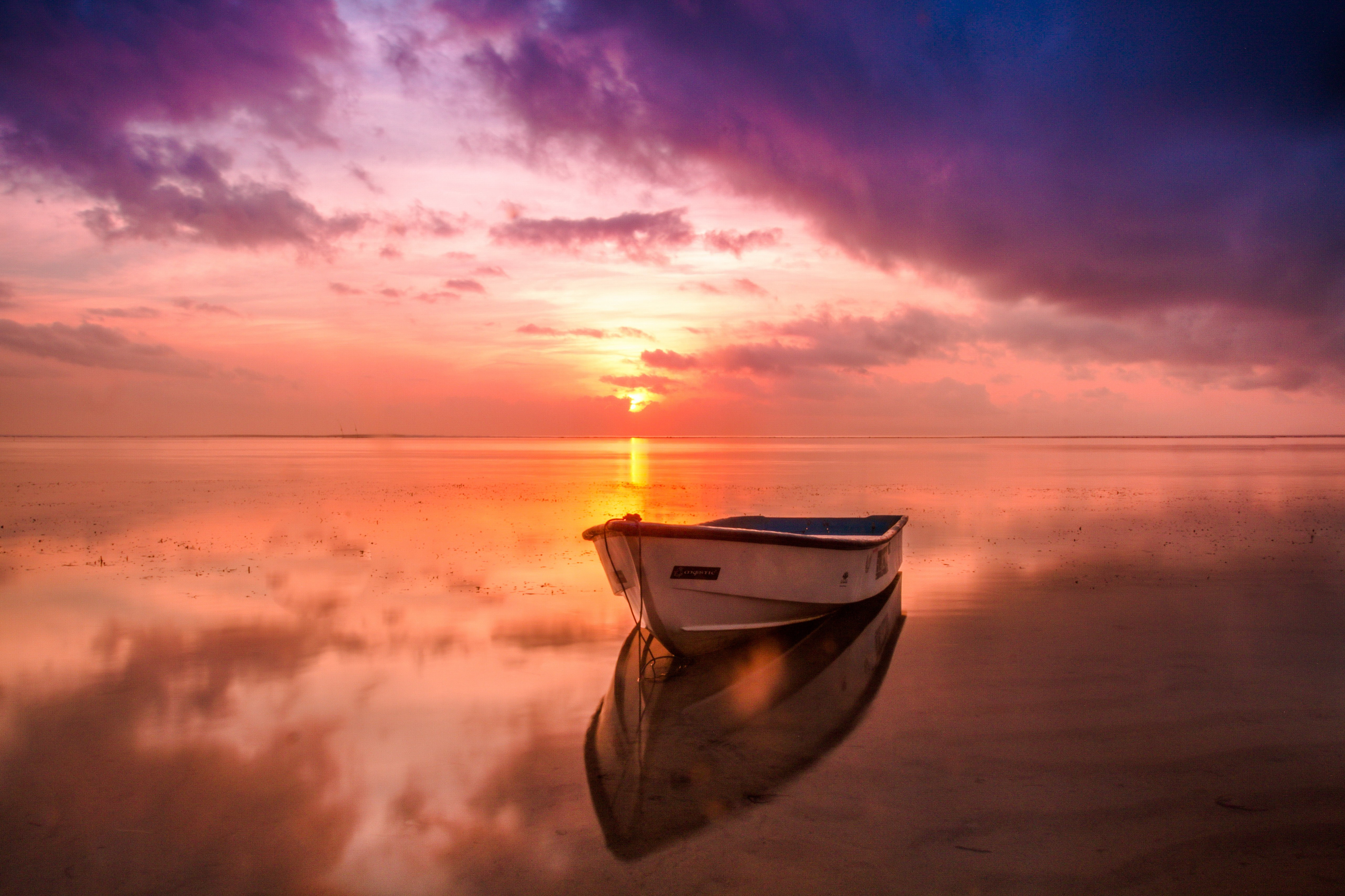 Boat Sea Sunset, HD Nature, 4k Wallpapers, Images, Backgrounds ...