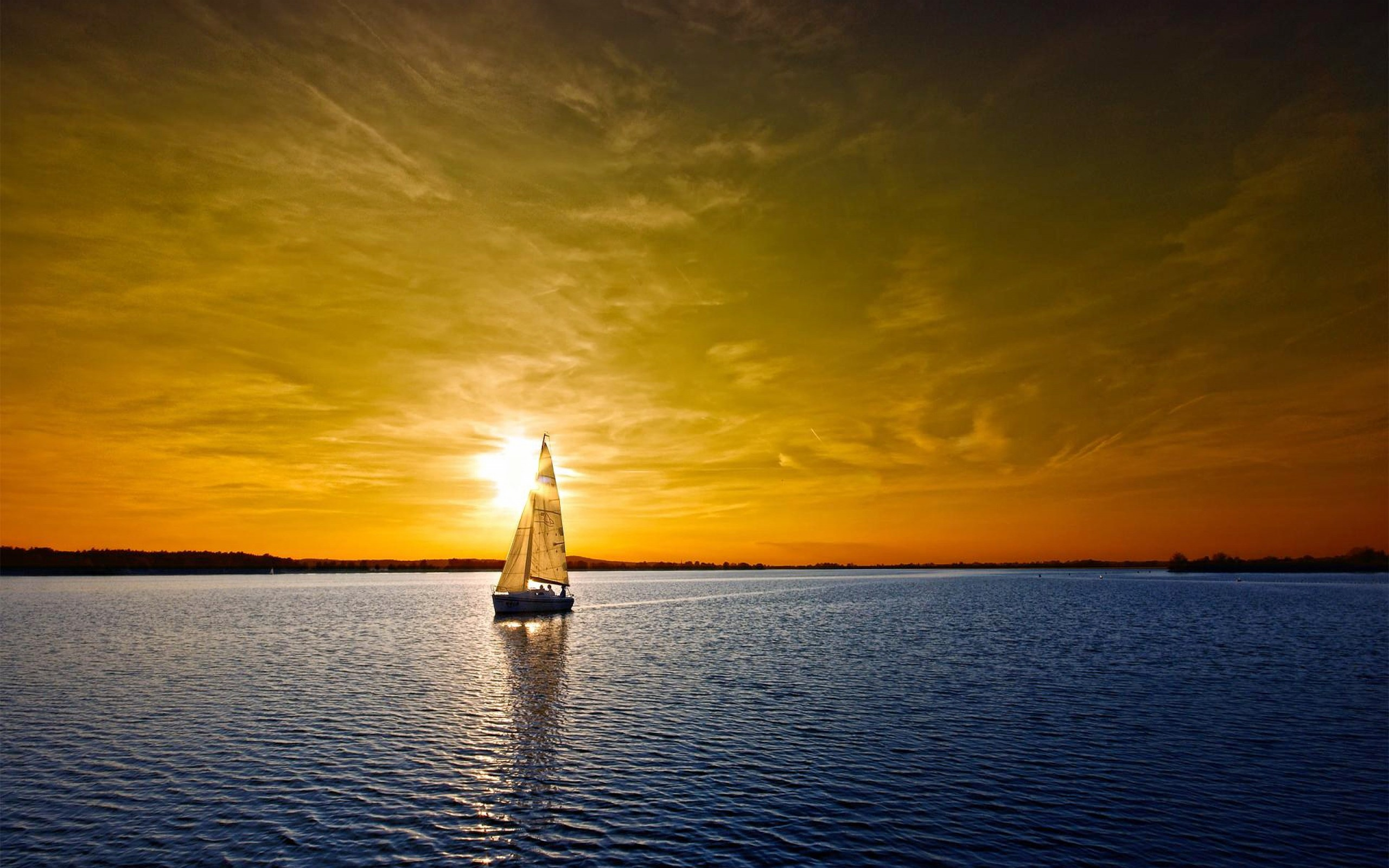 Daily Wallpaper: Sail Boat Sunset   I Like To Waste My Time