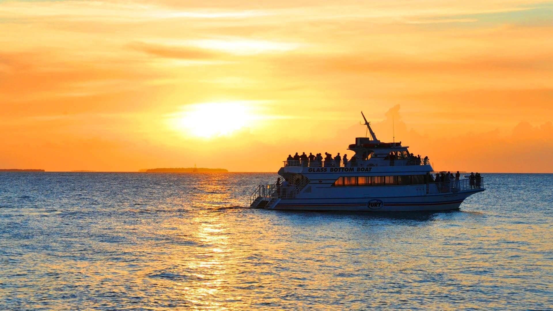 Key West Sunset Cruise and Glass Bottom Boat Combo
