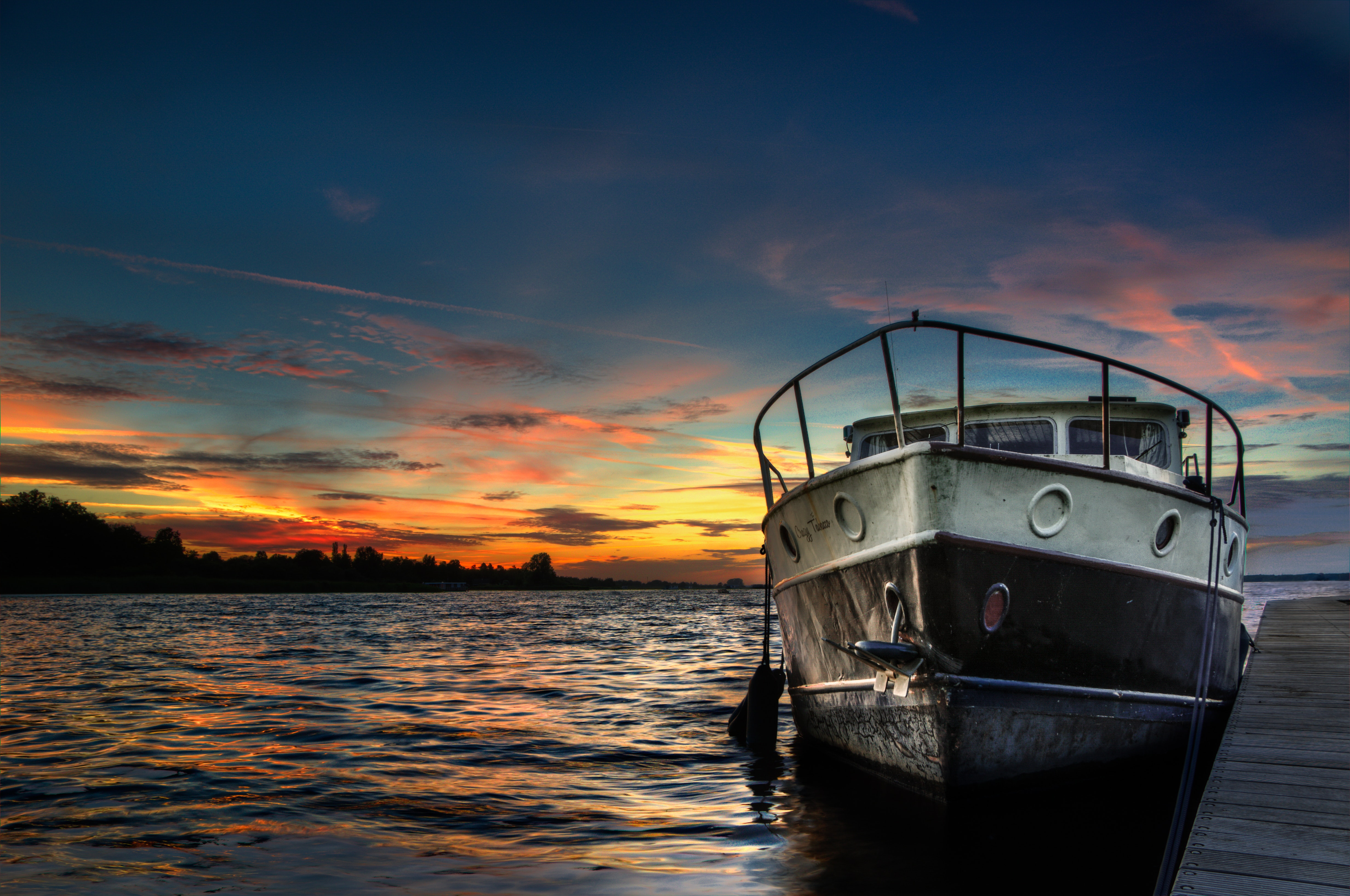 Free stock photo of boat, dusk, hdr