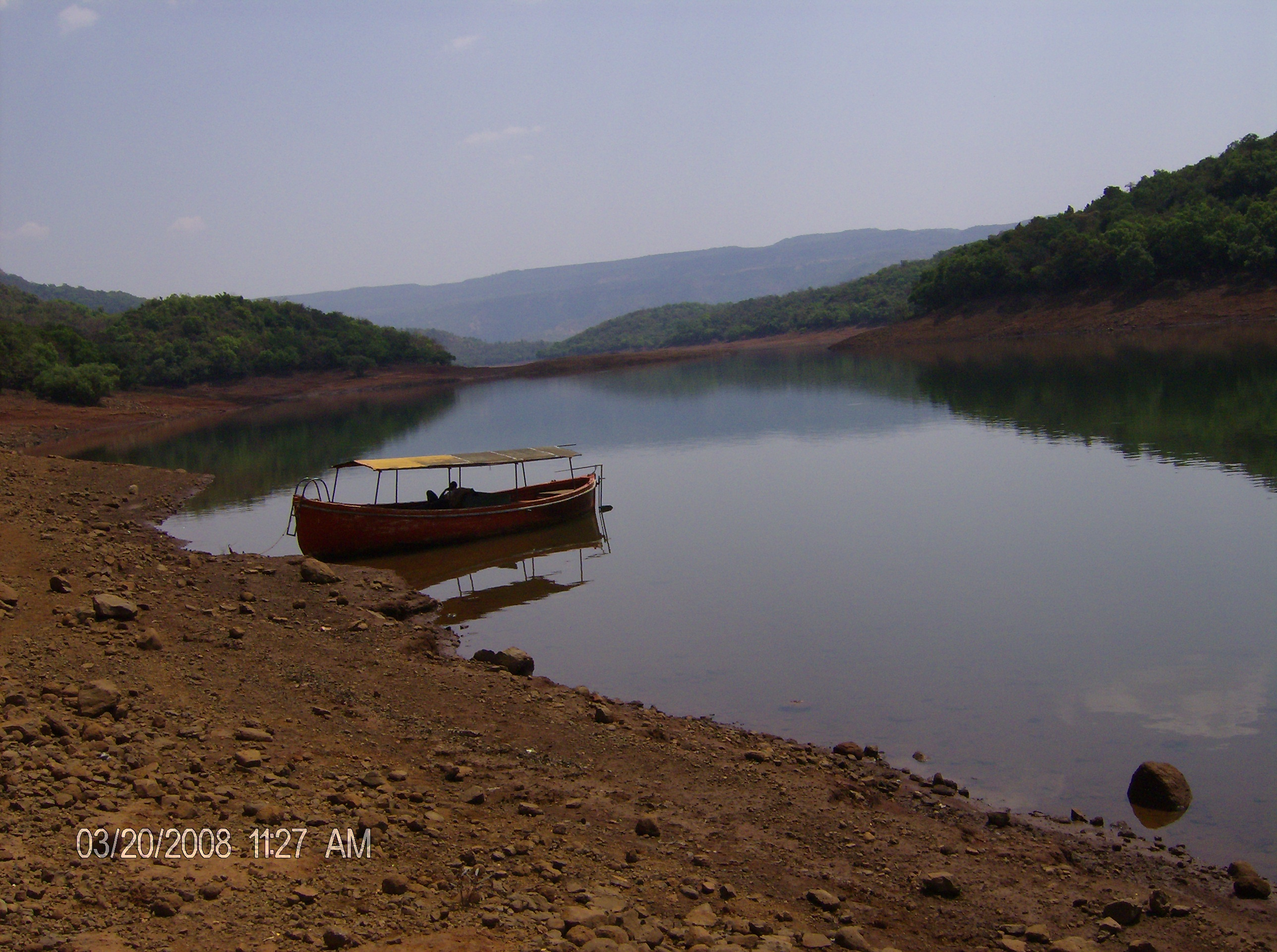 Boat by the lake photo