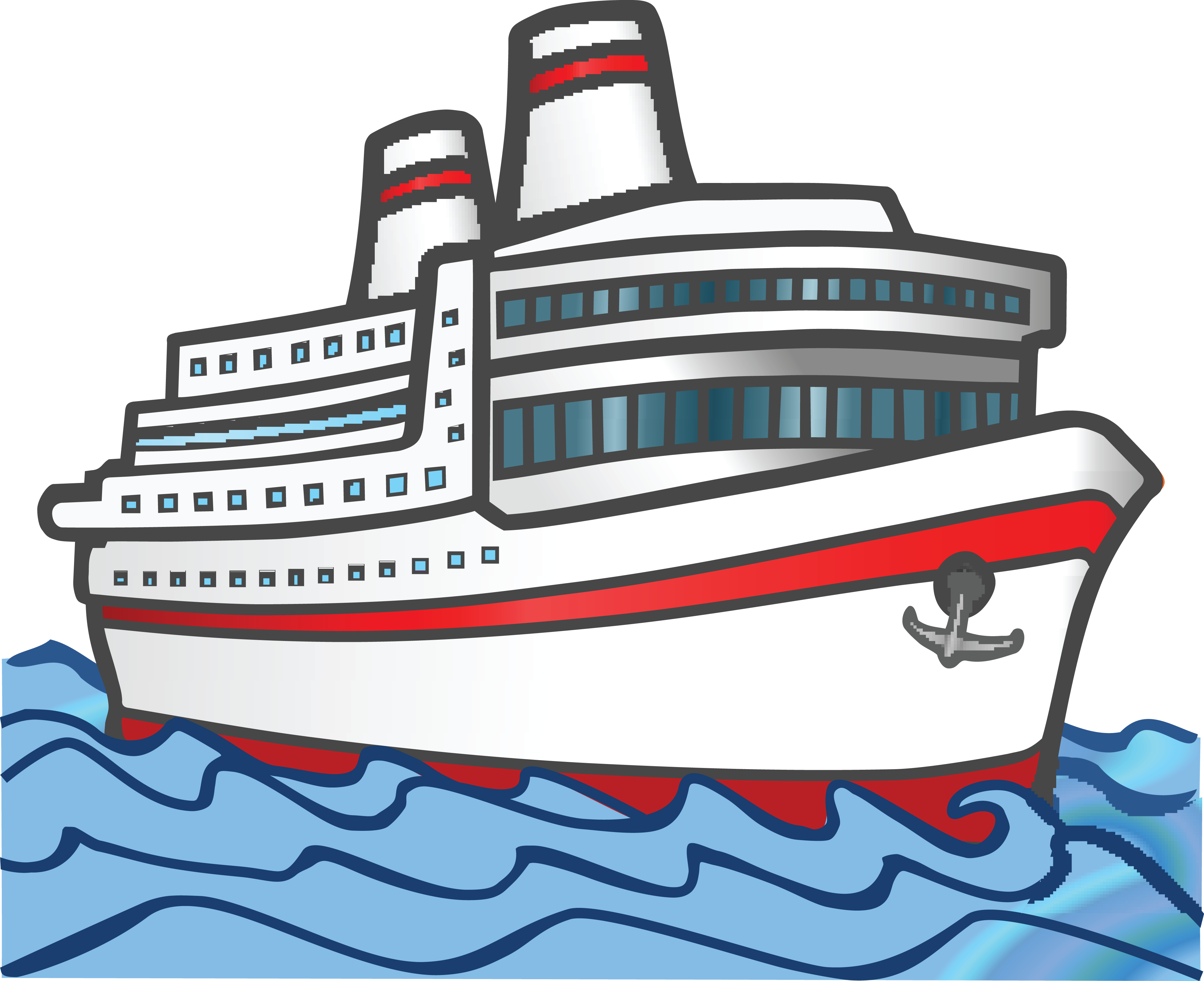 Free Clipart Of A cruise boat