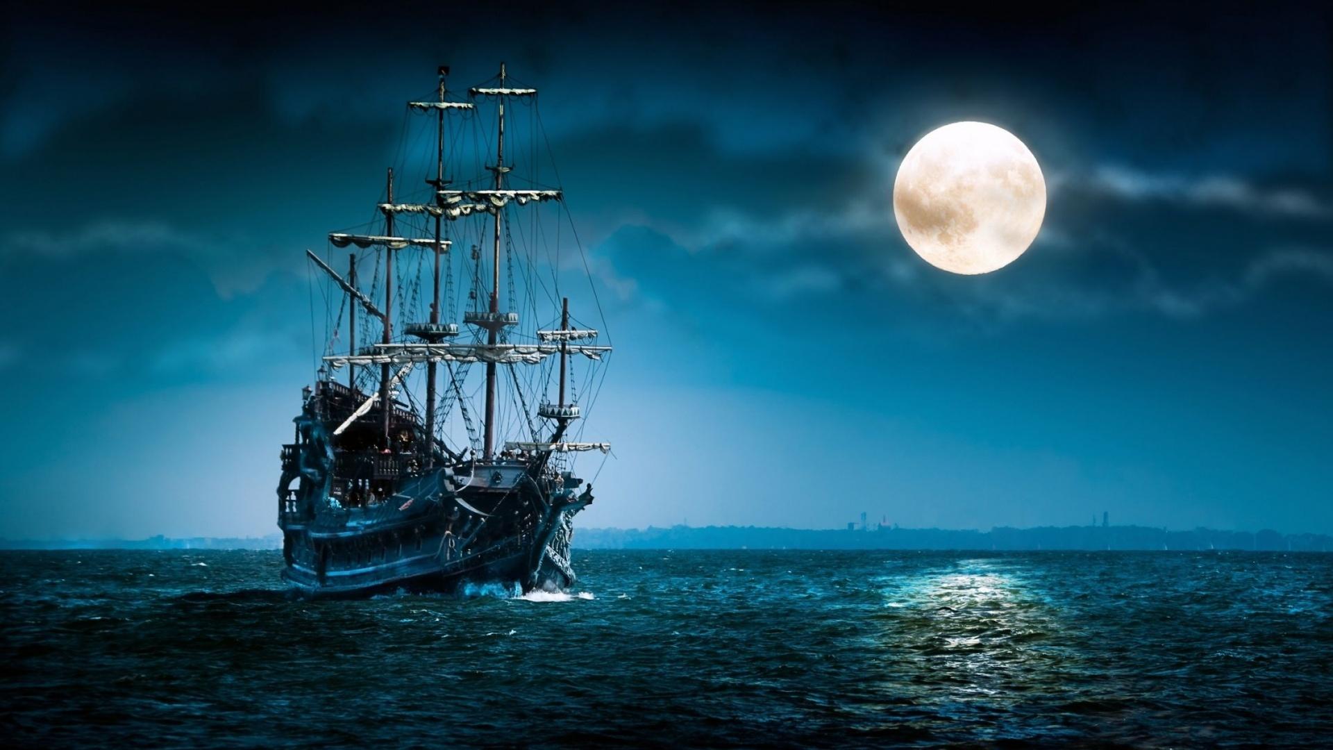 Boat in night photo