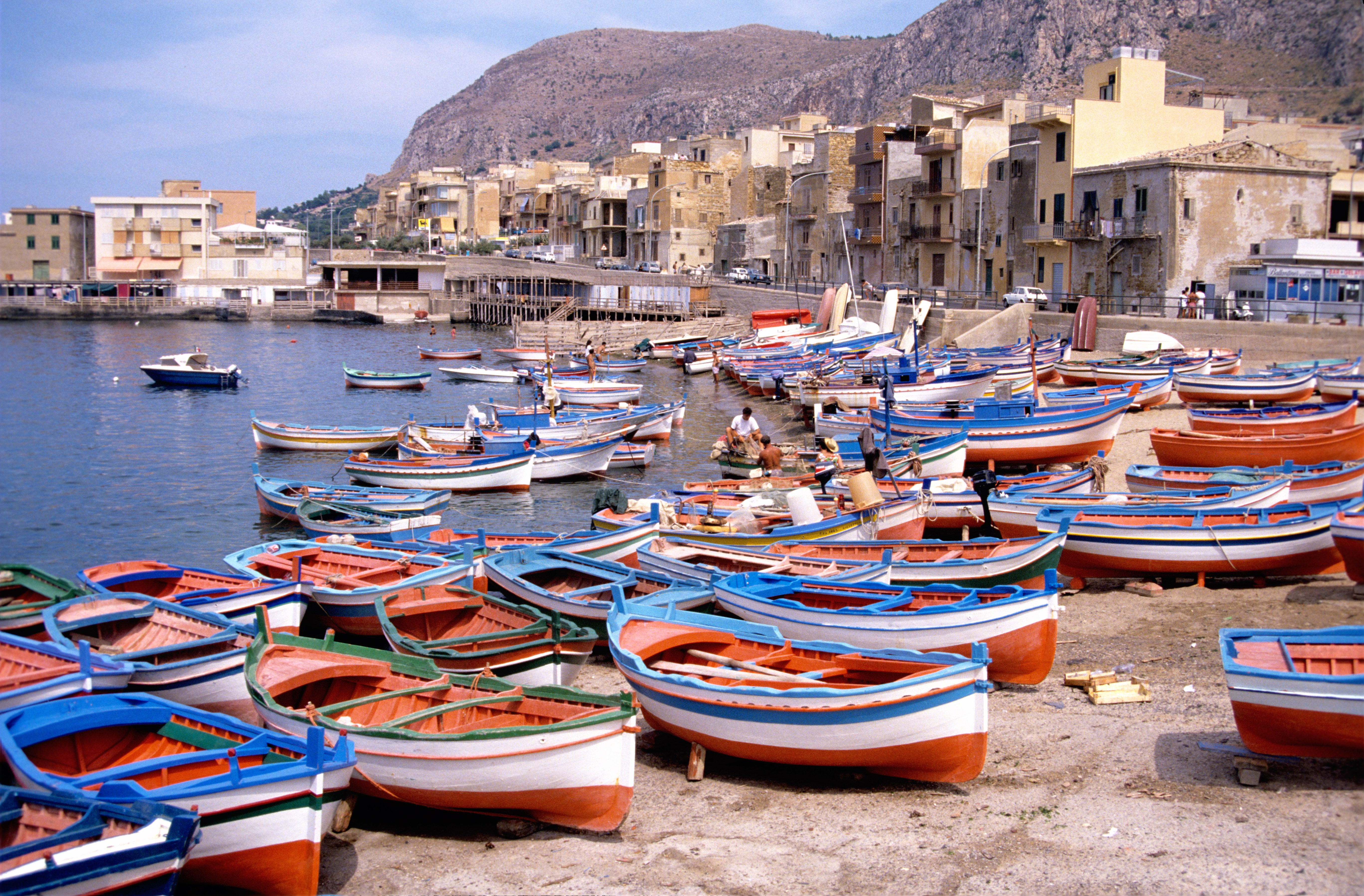 Boats in sicily photo