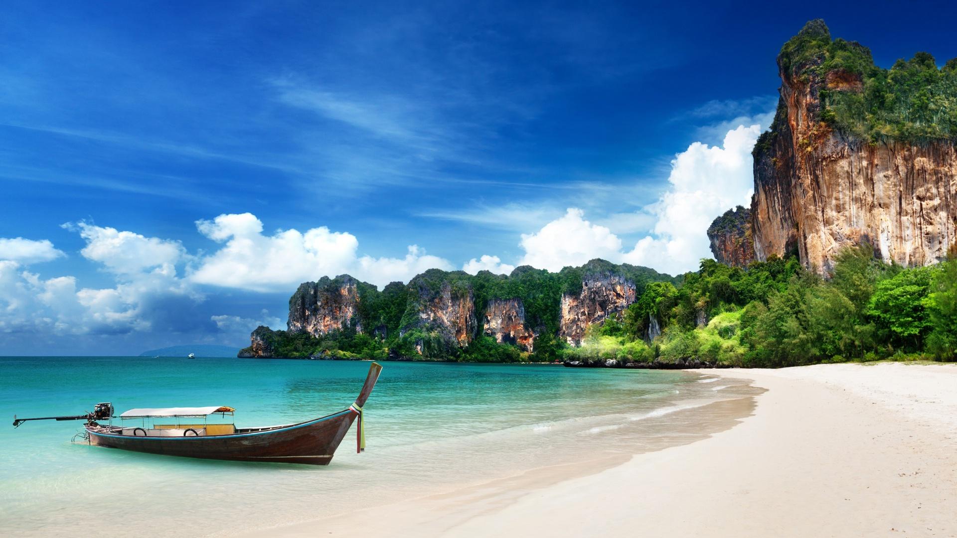 Krabi Island Beach Thailand Seashore... Wallpaper #13759