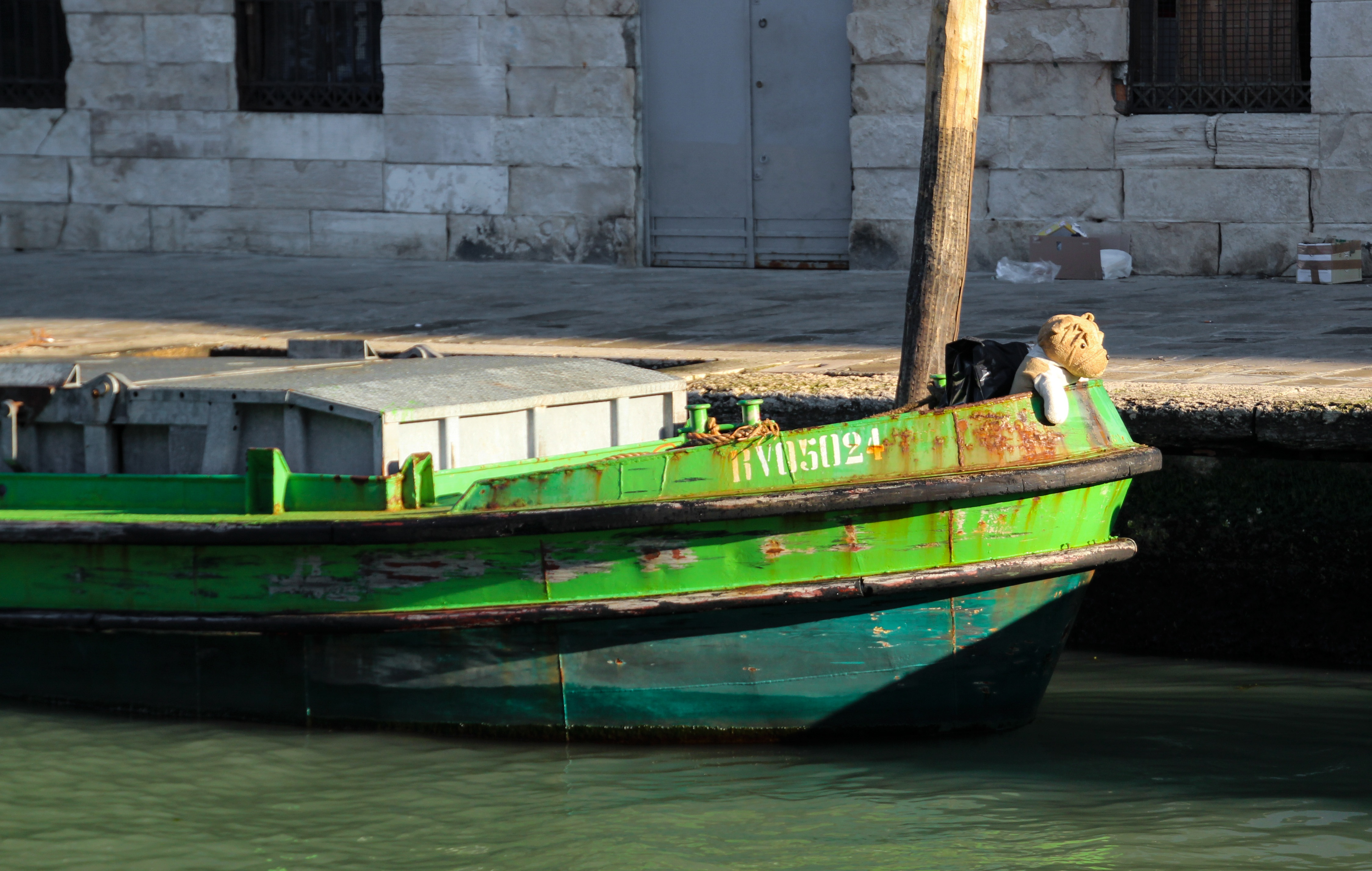 Boat on the port photo