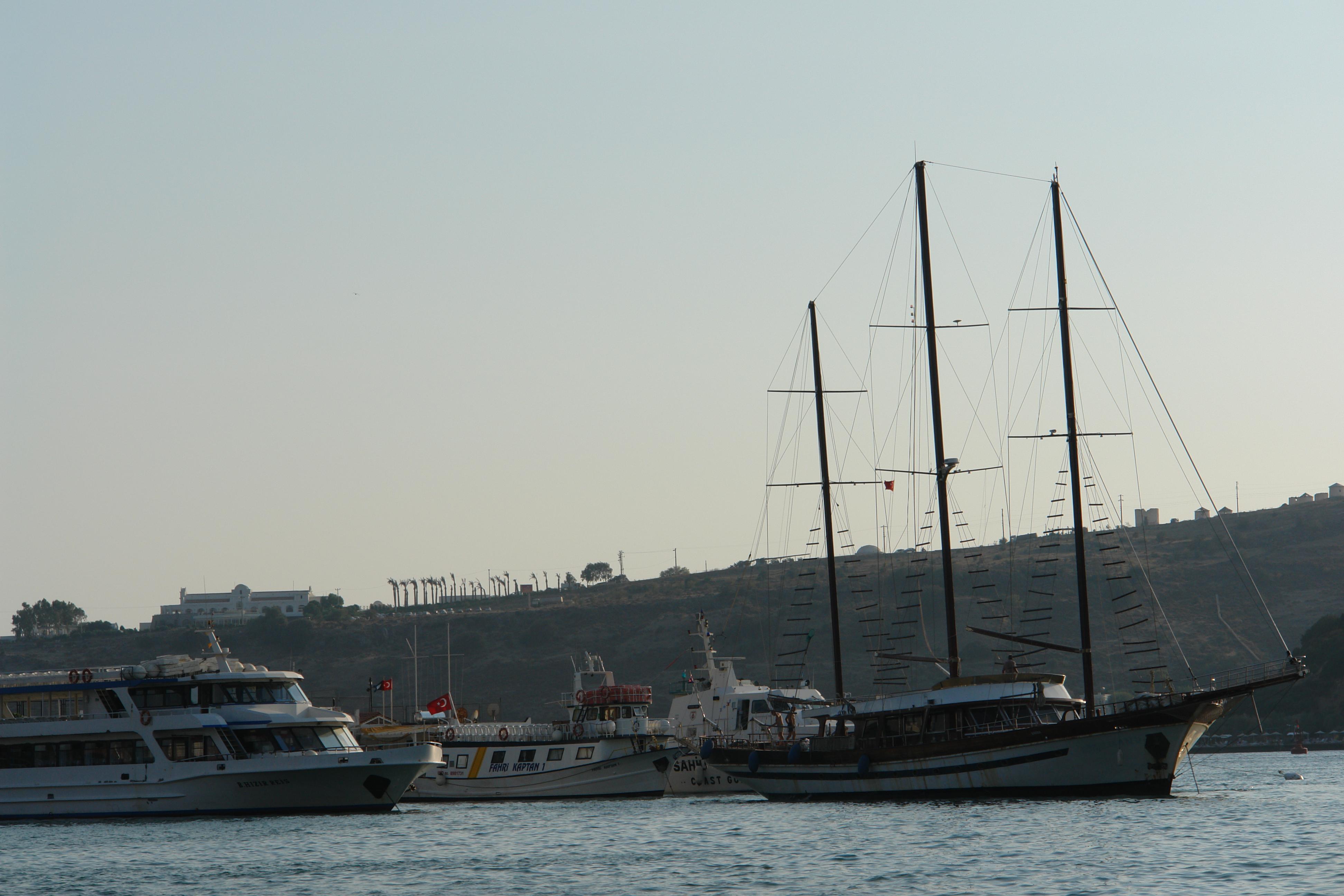 Boats, Cost, Ferry, Mast, Ocean, HQ Photo