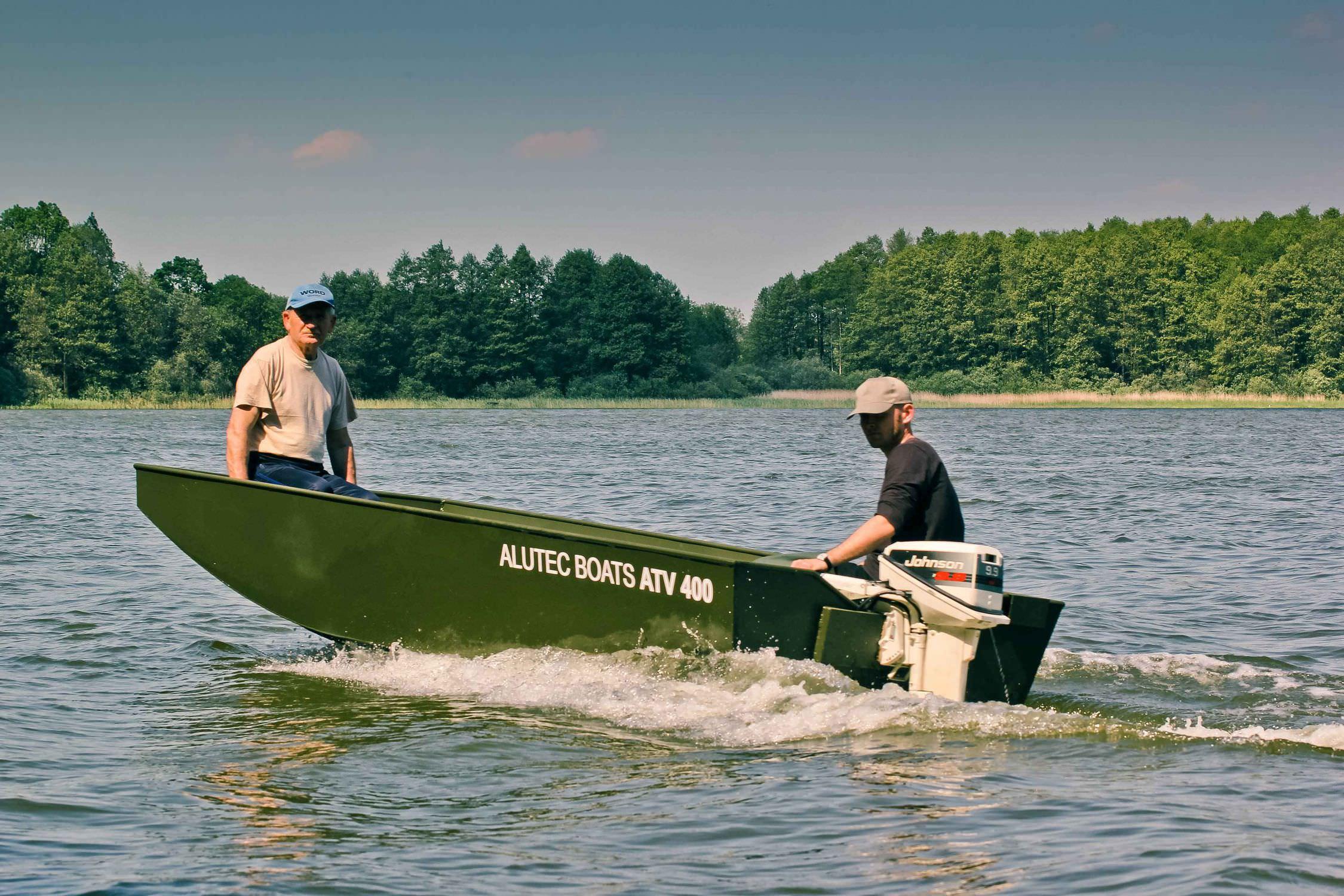 Outboard jon boat / sport-fishing / 4-person max. - ATV-360 - ALUTEC ...