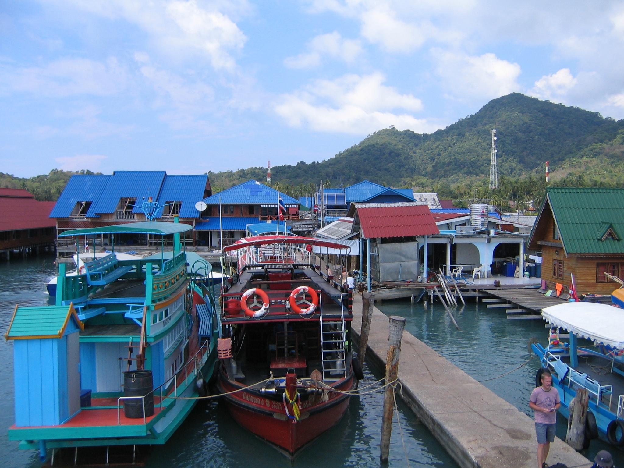 Boats in bangbao photo