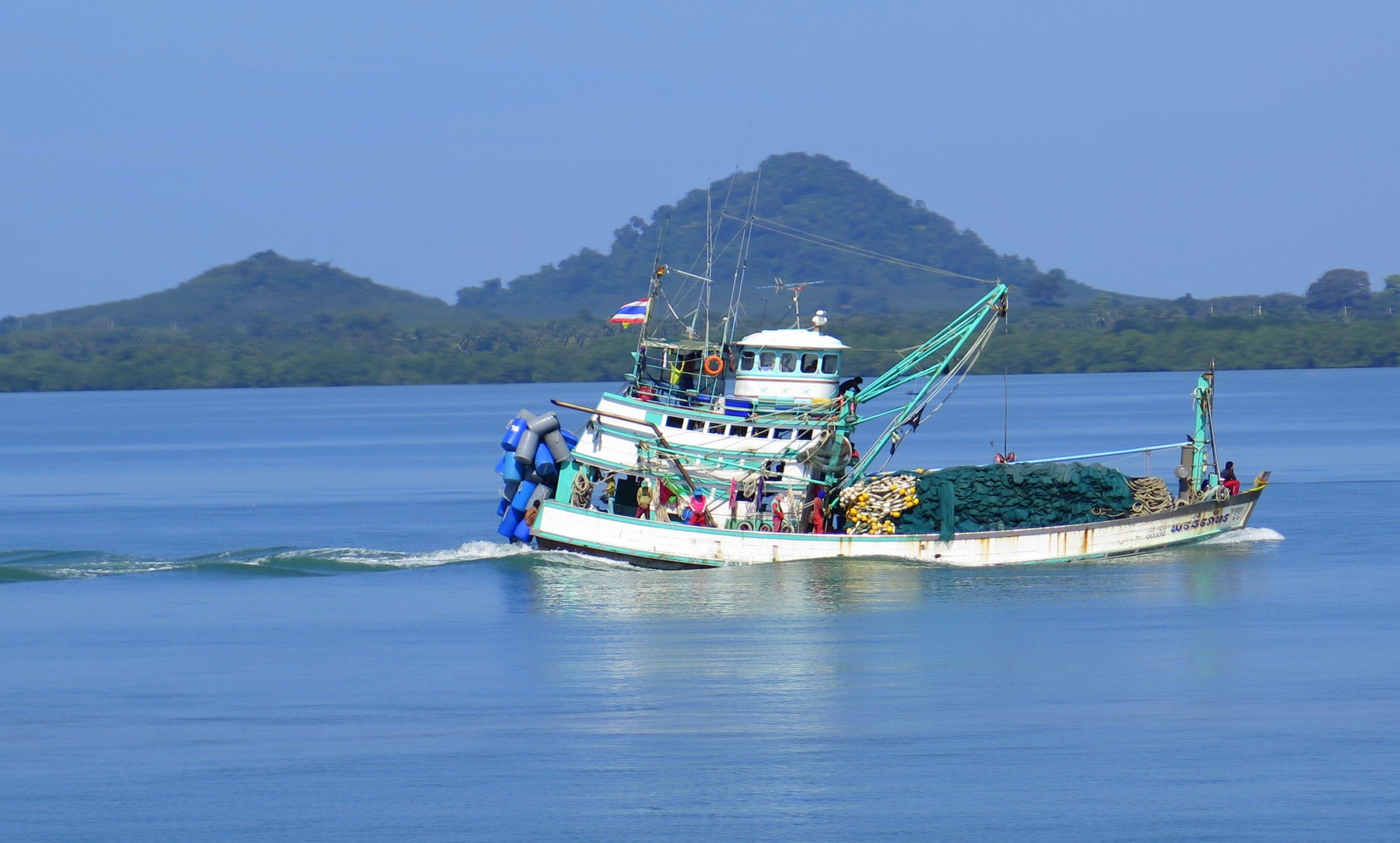Boats in the morning at Bang Bao. Koh Chang #island #Thailand   Koh ...