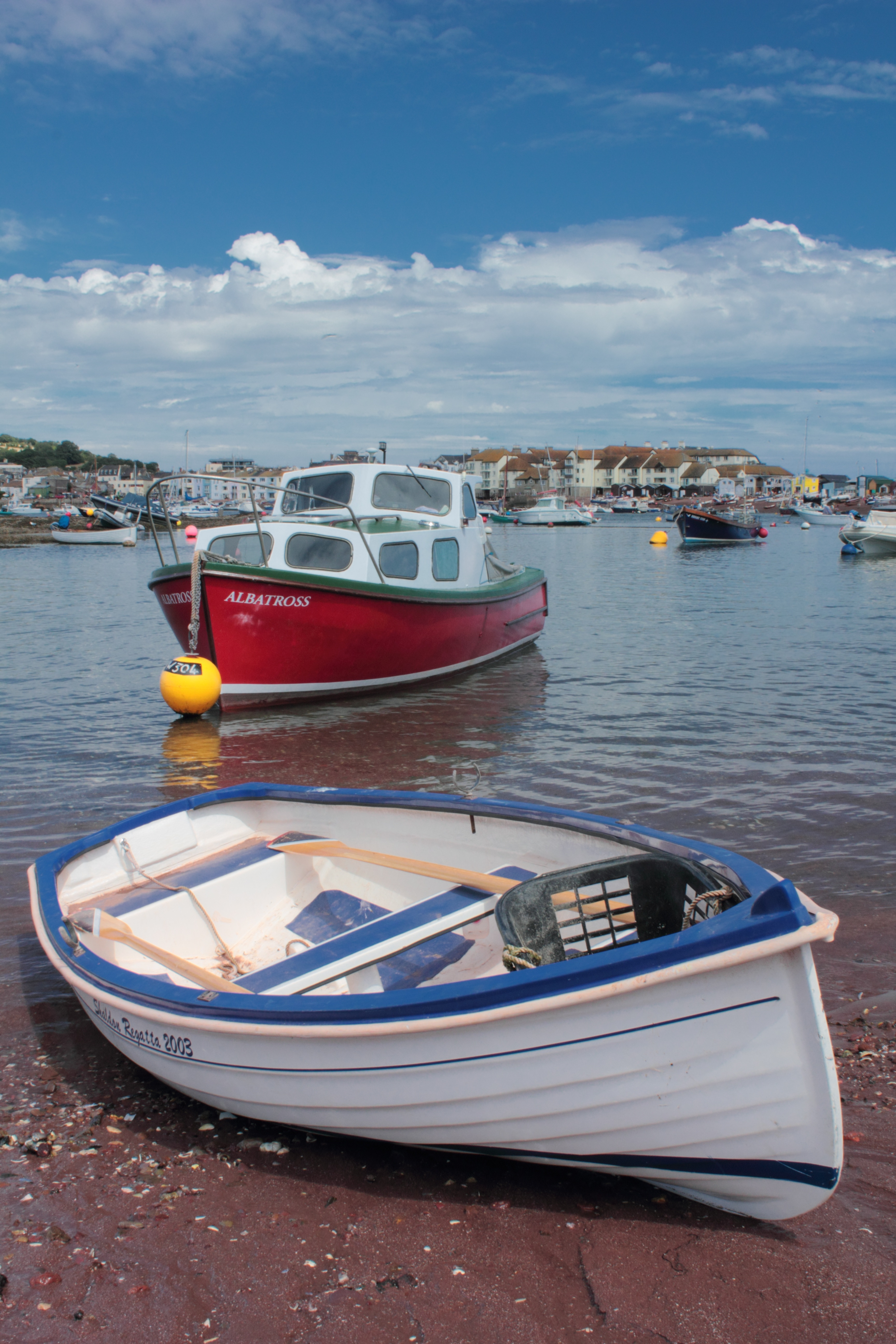 Boats in the harbour photo