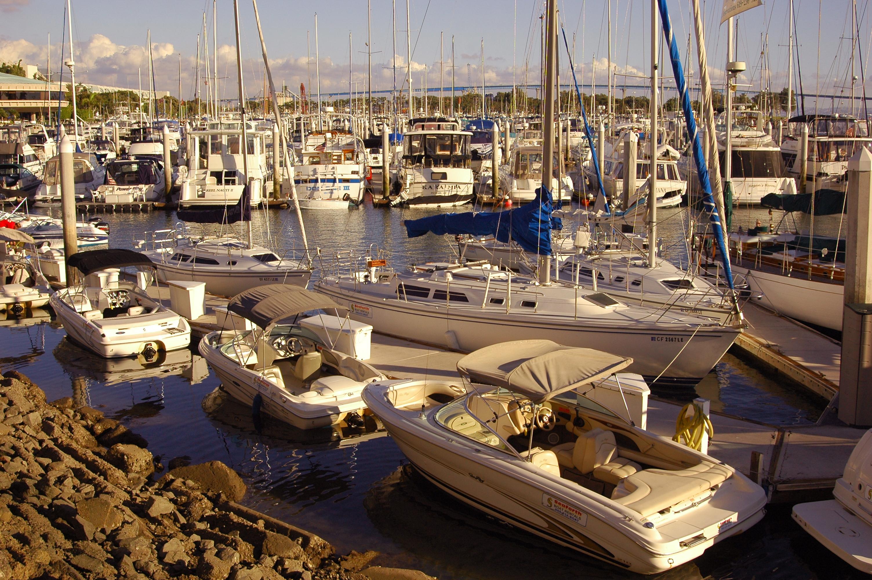 Boats in the marina photo