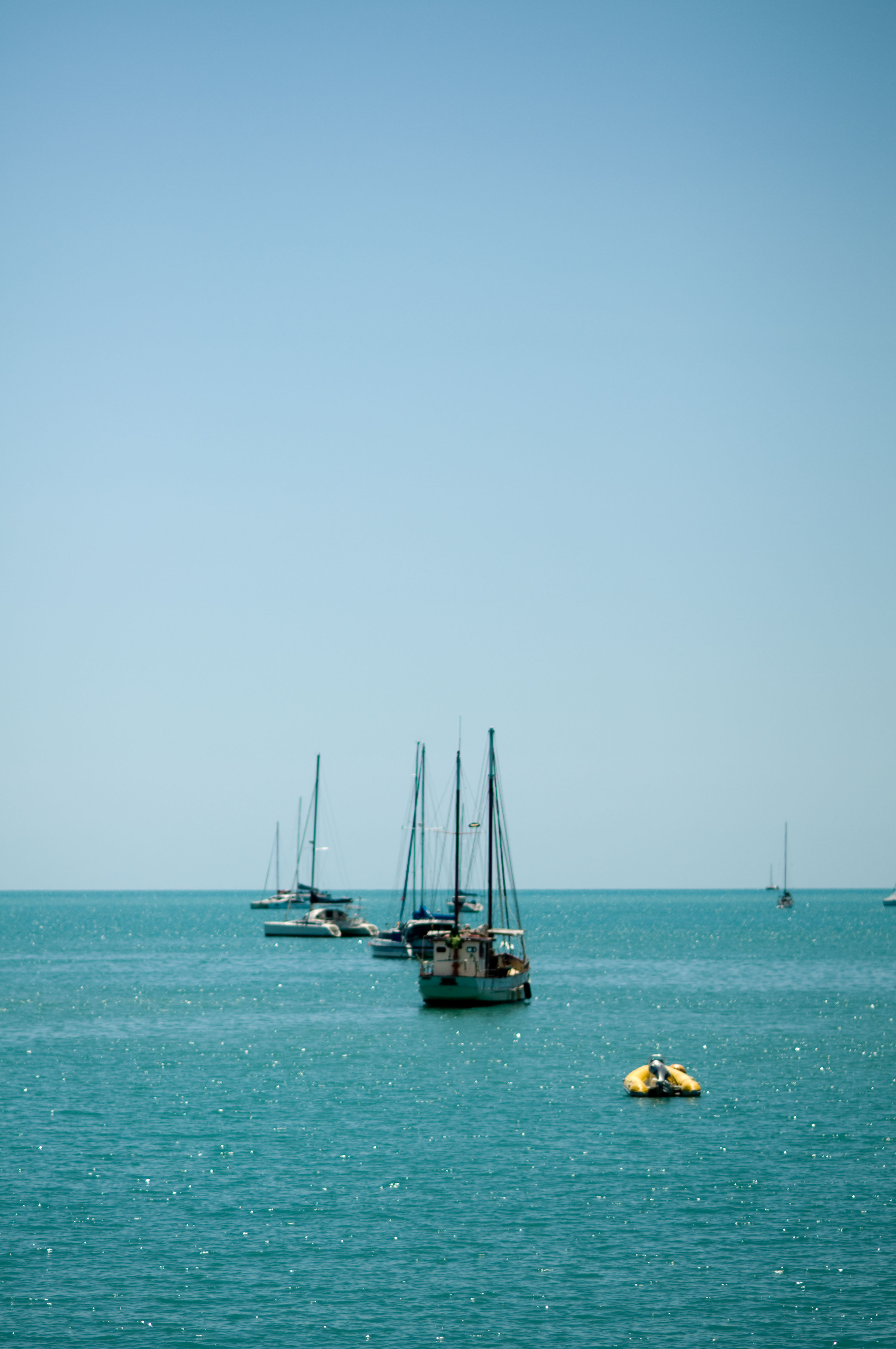 Boats in the sea photo