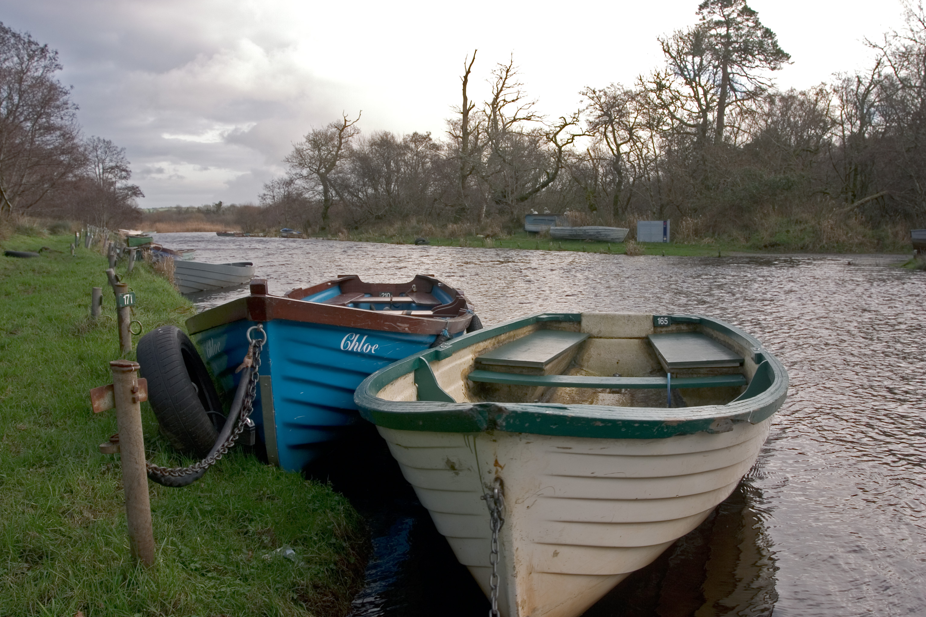 Boats on river photo