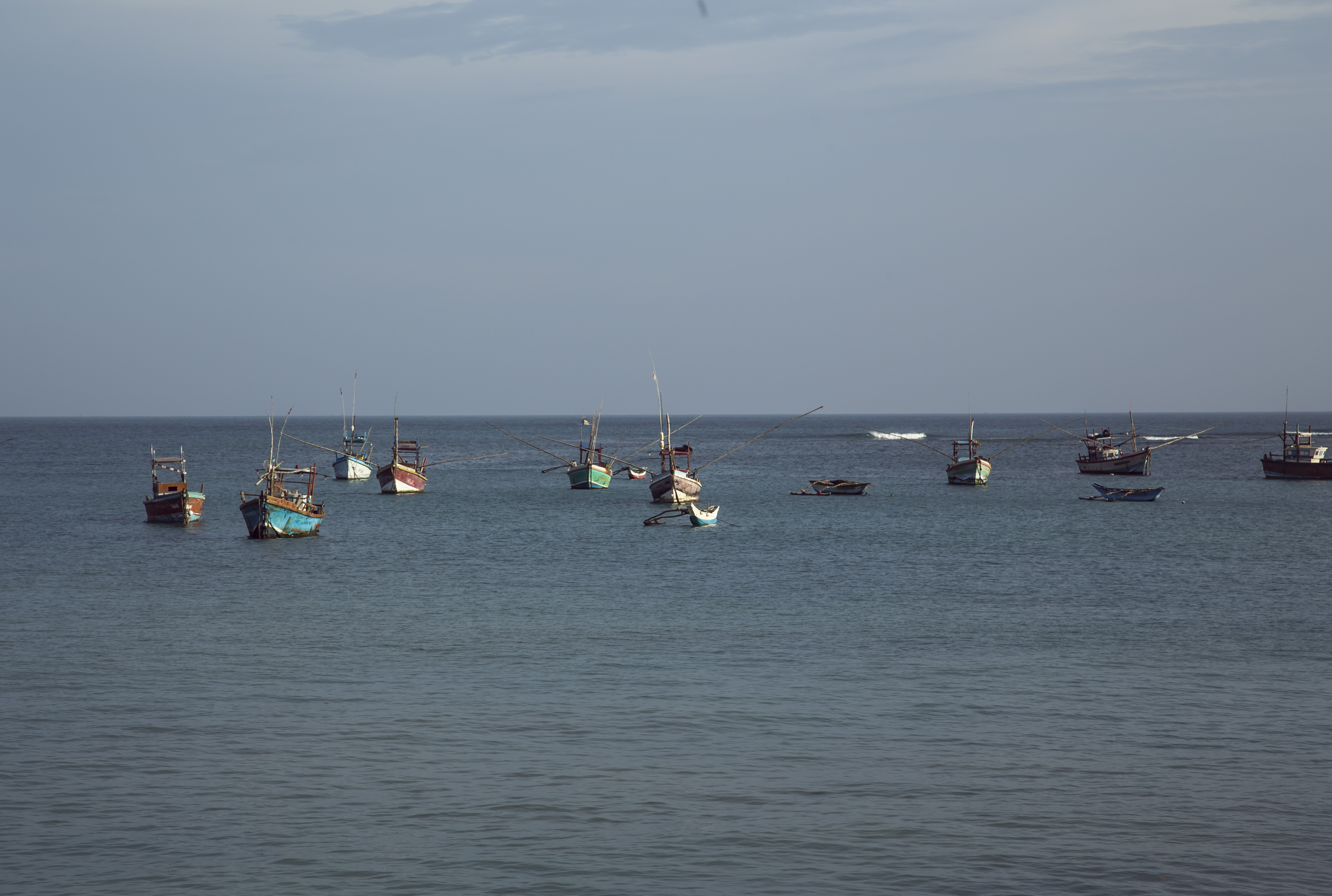 Boats on sea, Boats, Indian, Lanka, Ocean, HQ Photo