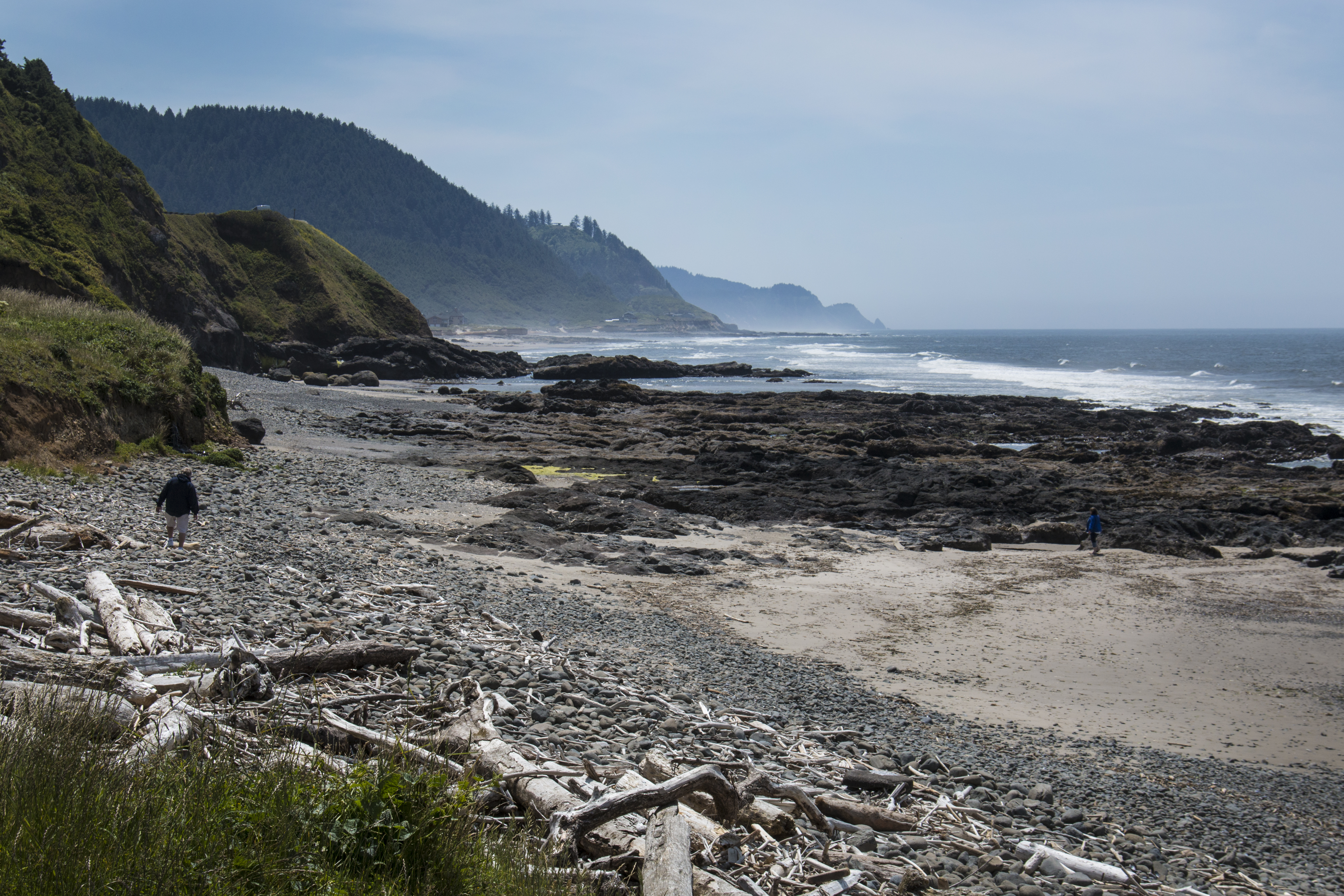 Bob's Beach, Oregon, Bay, Beach, Coast, Grass, HQ Photo