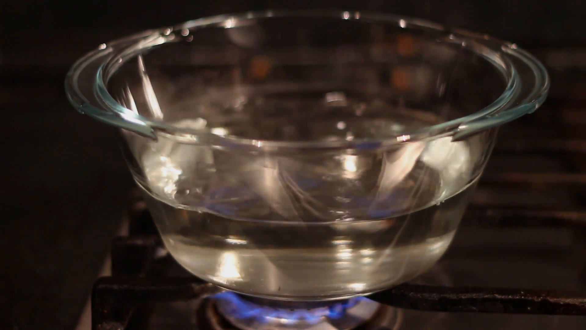 boiling water in transparent glass pot Stock Video Footage - Videoblocks