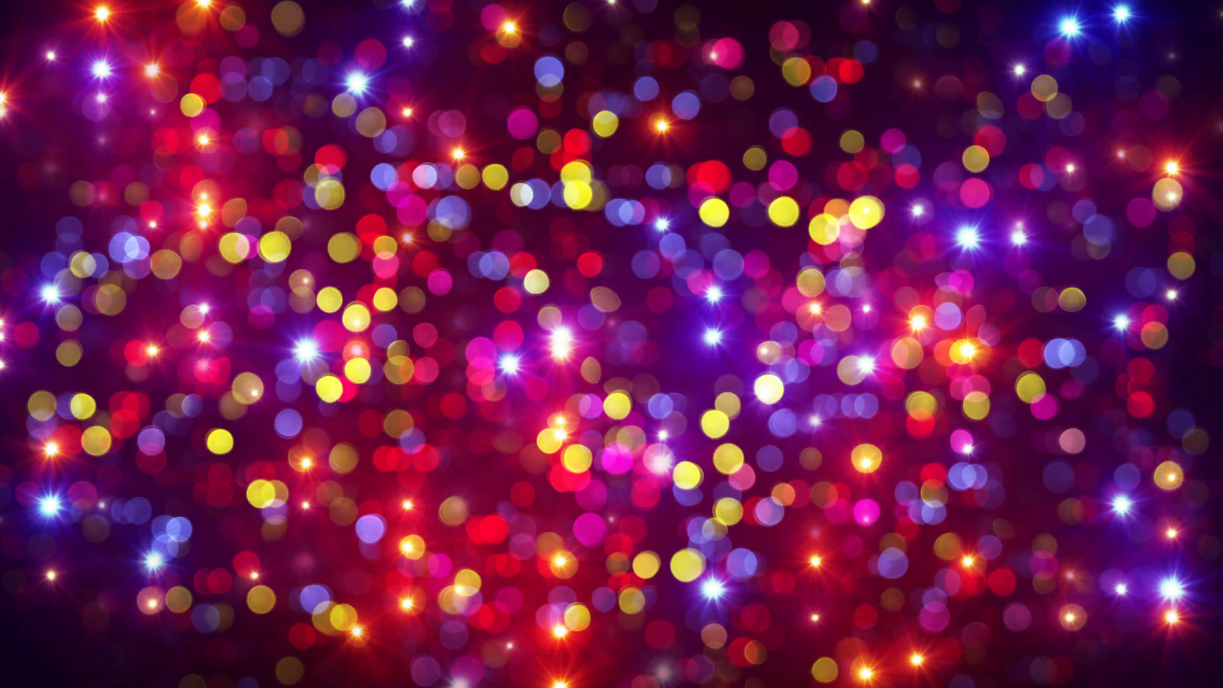 disco party light flashes and bokeh background loop 4k (4096x2304 ...