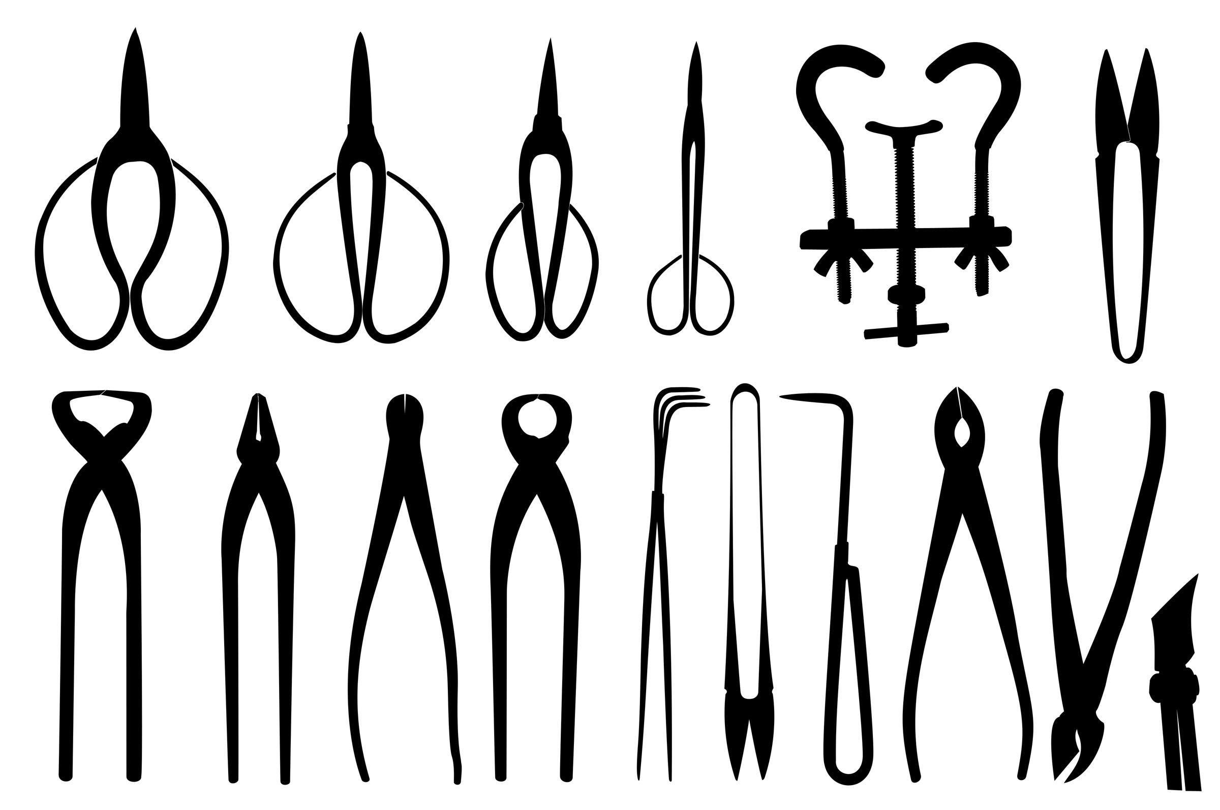 Bonsai tools, Black, Shape, Whitebackground, Trimmer, HQ Photo
