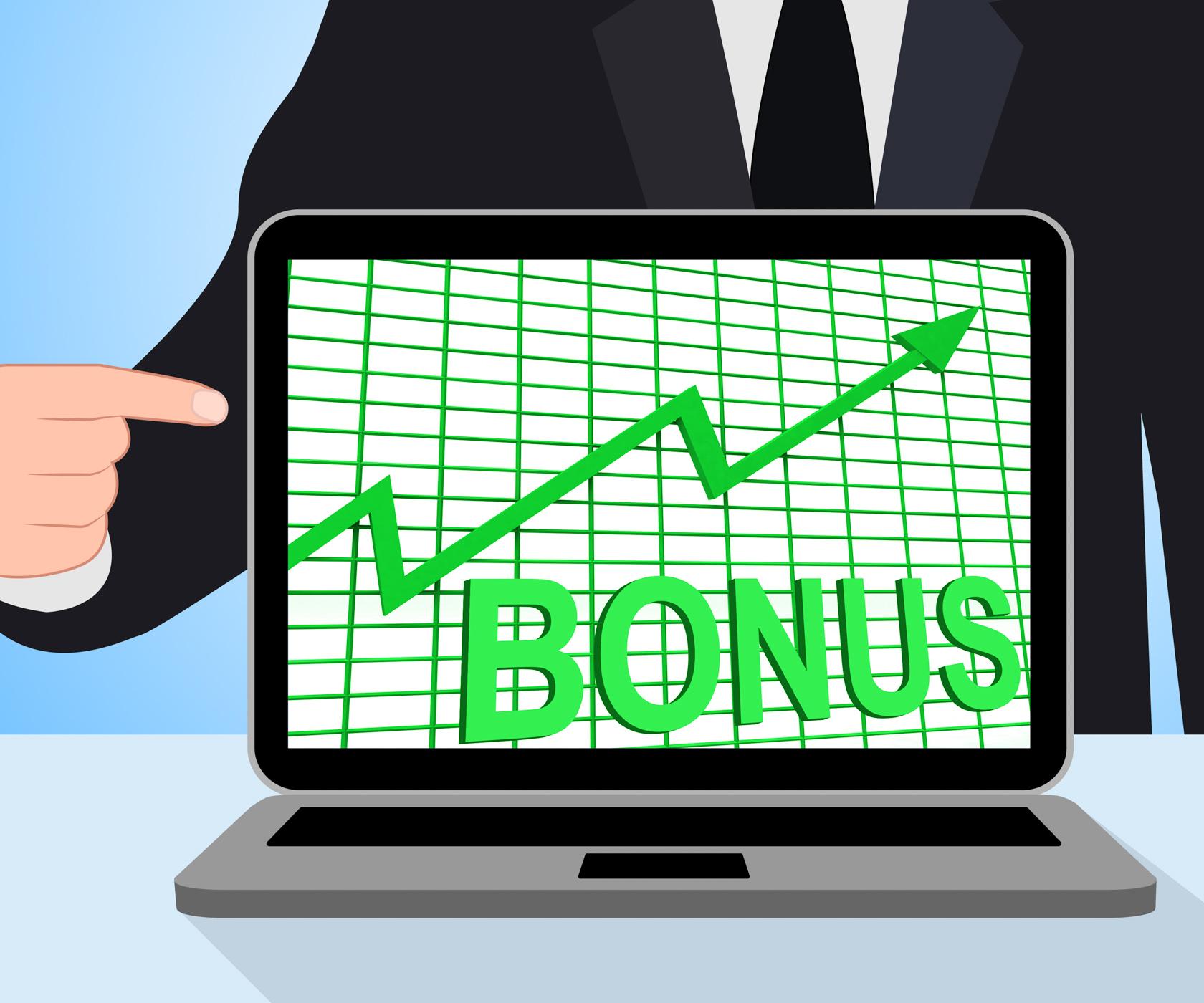 Bonus chart graph displays increase reward or perk photo
