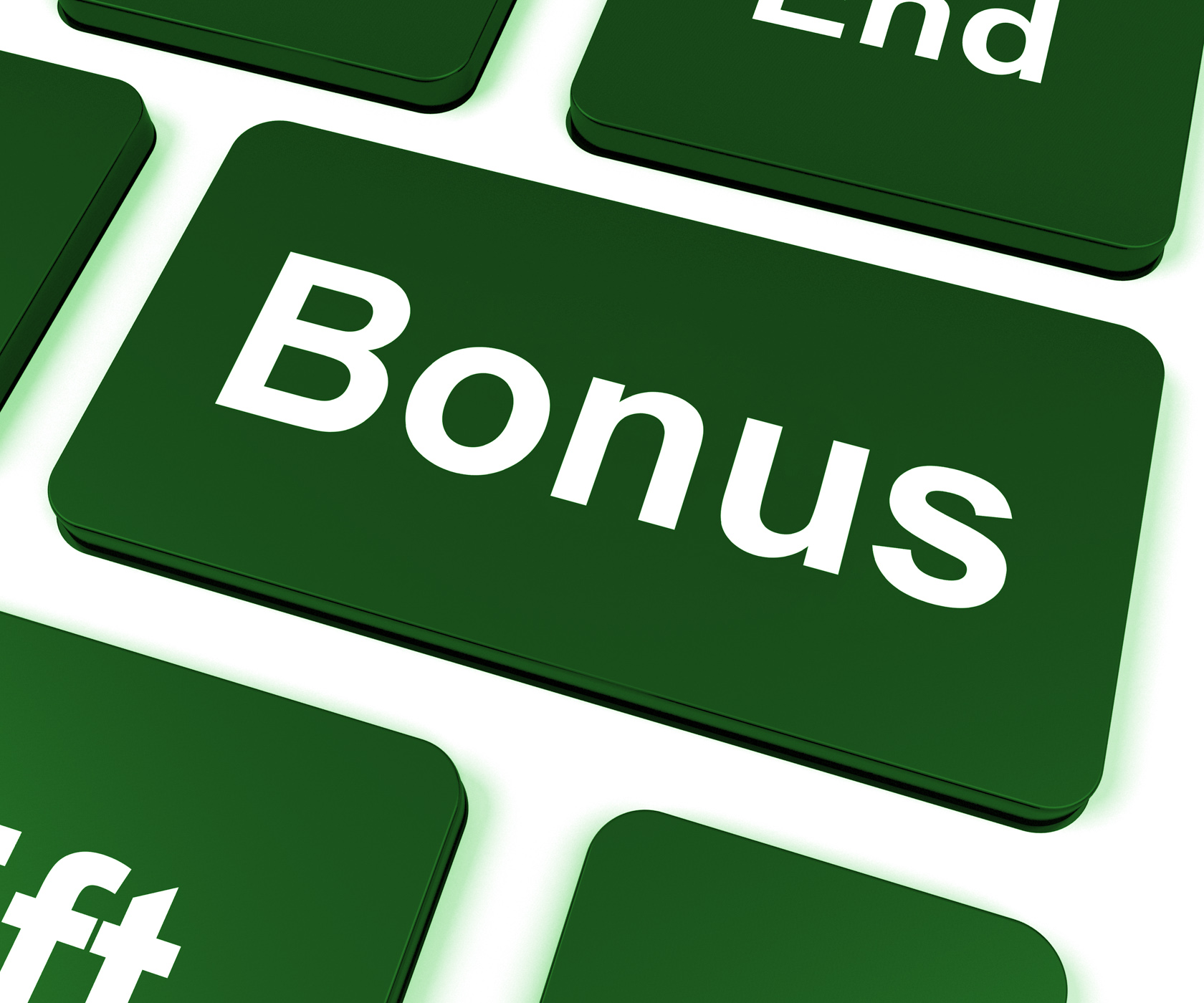 Bonus key shows extra gift or gratuity online photo