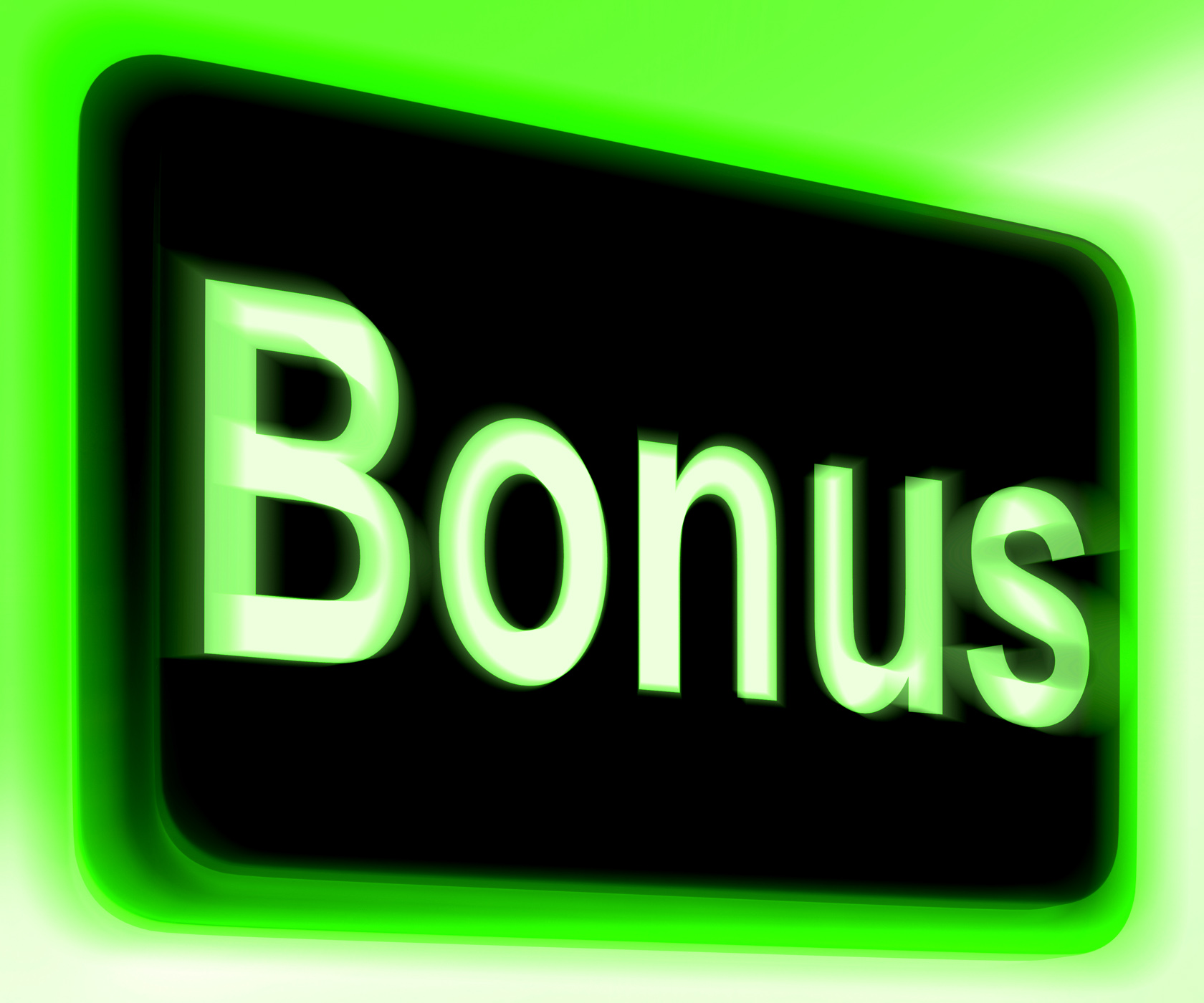 Bonus sign shows extra gift or gratuity online photo