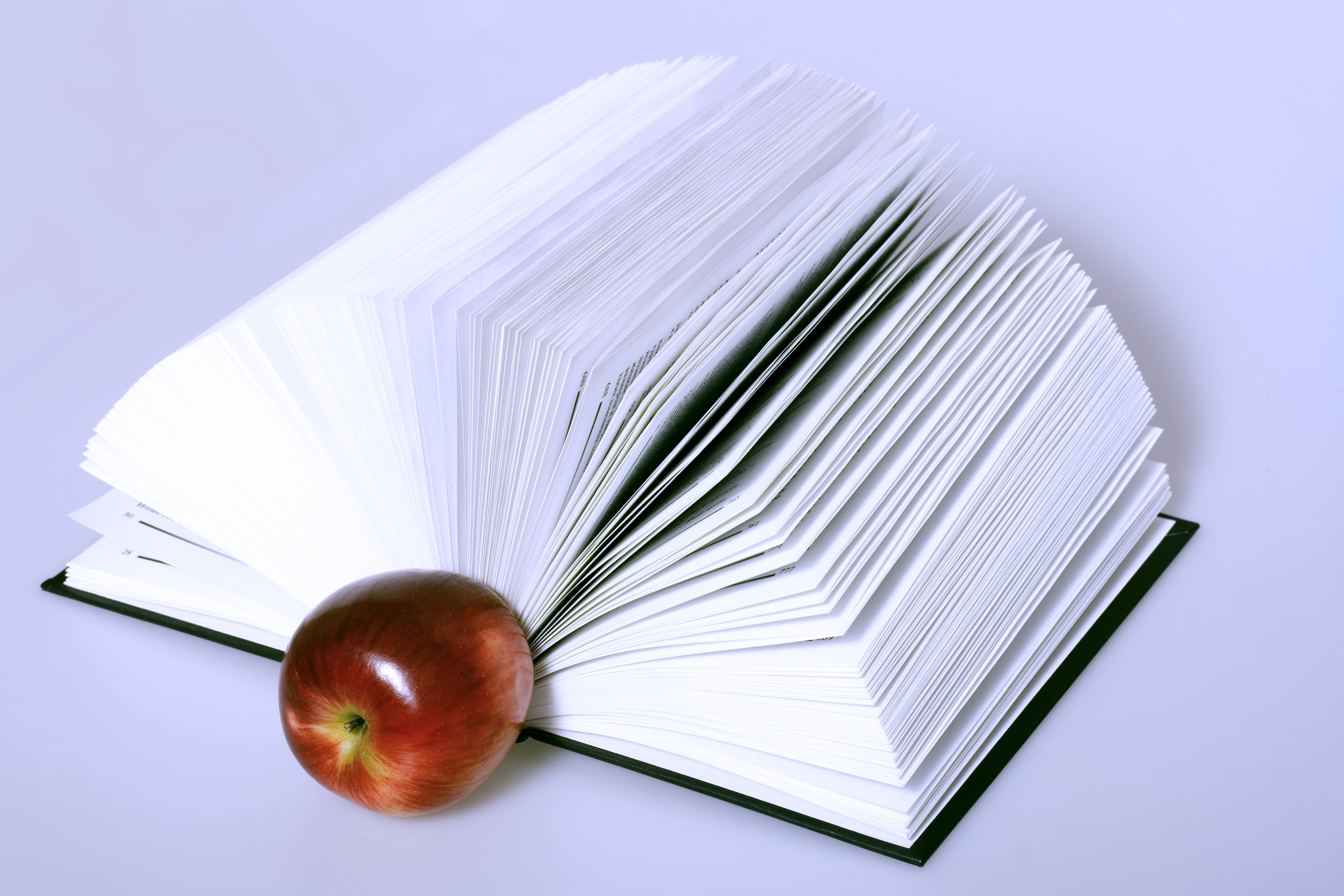 book and apple, Apple, Book, Closeup, Dictionary, HQ Photo