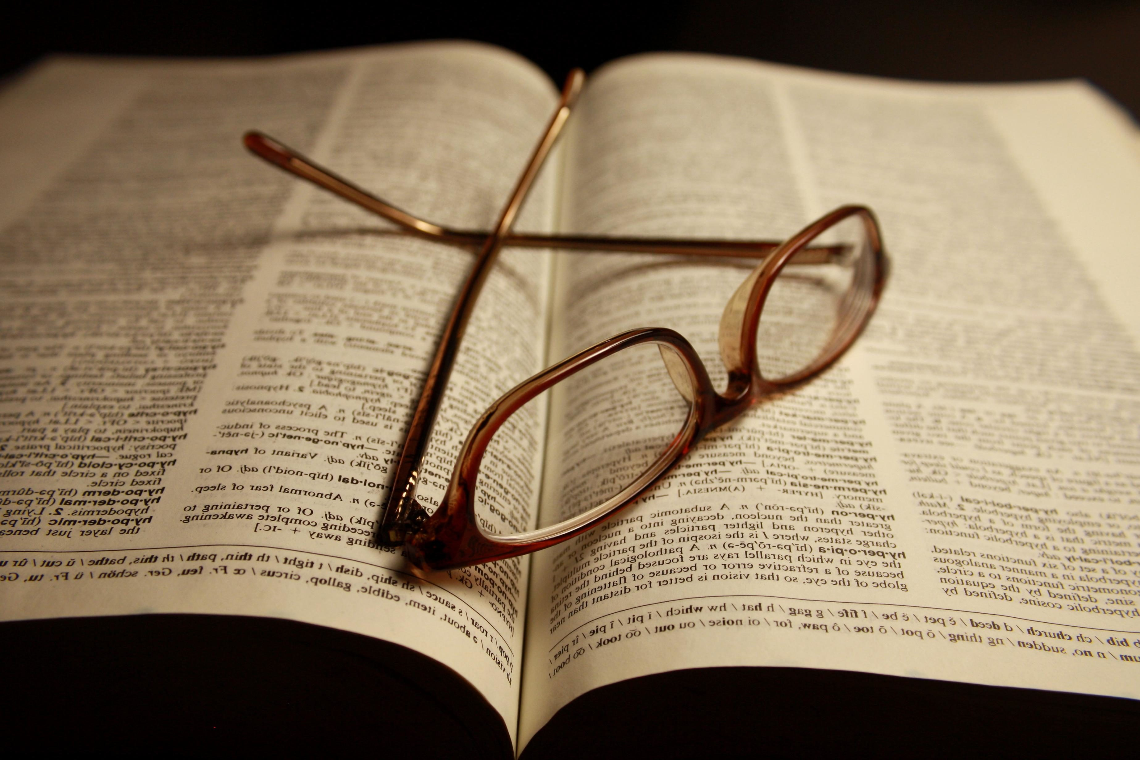 Book and glasses photo