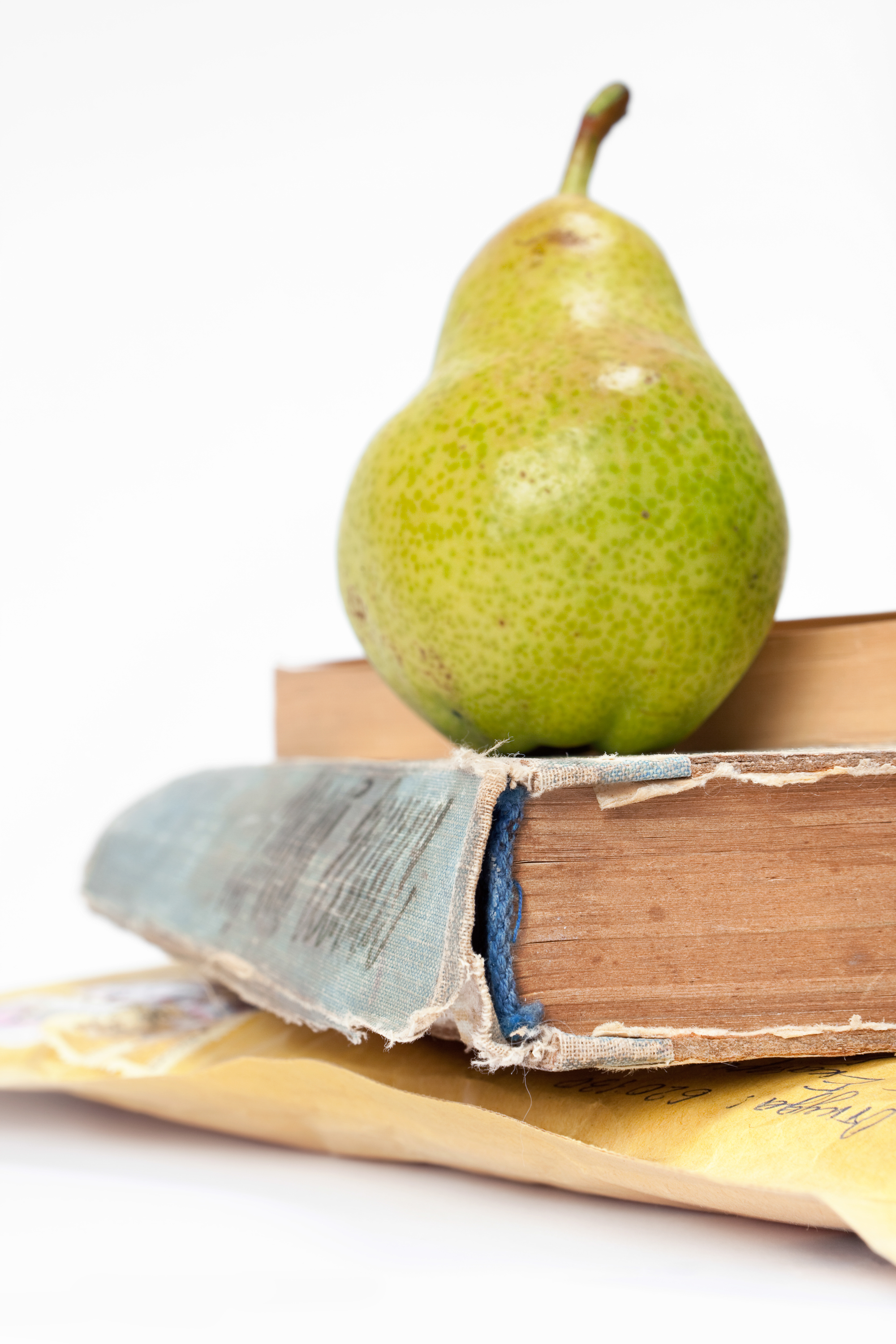 Book and pear photo
