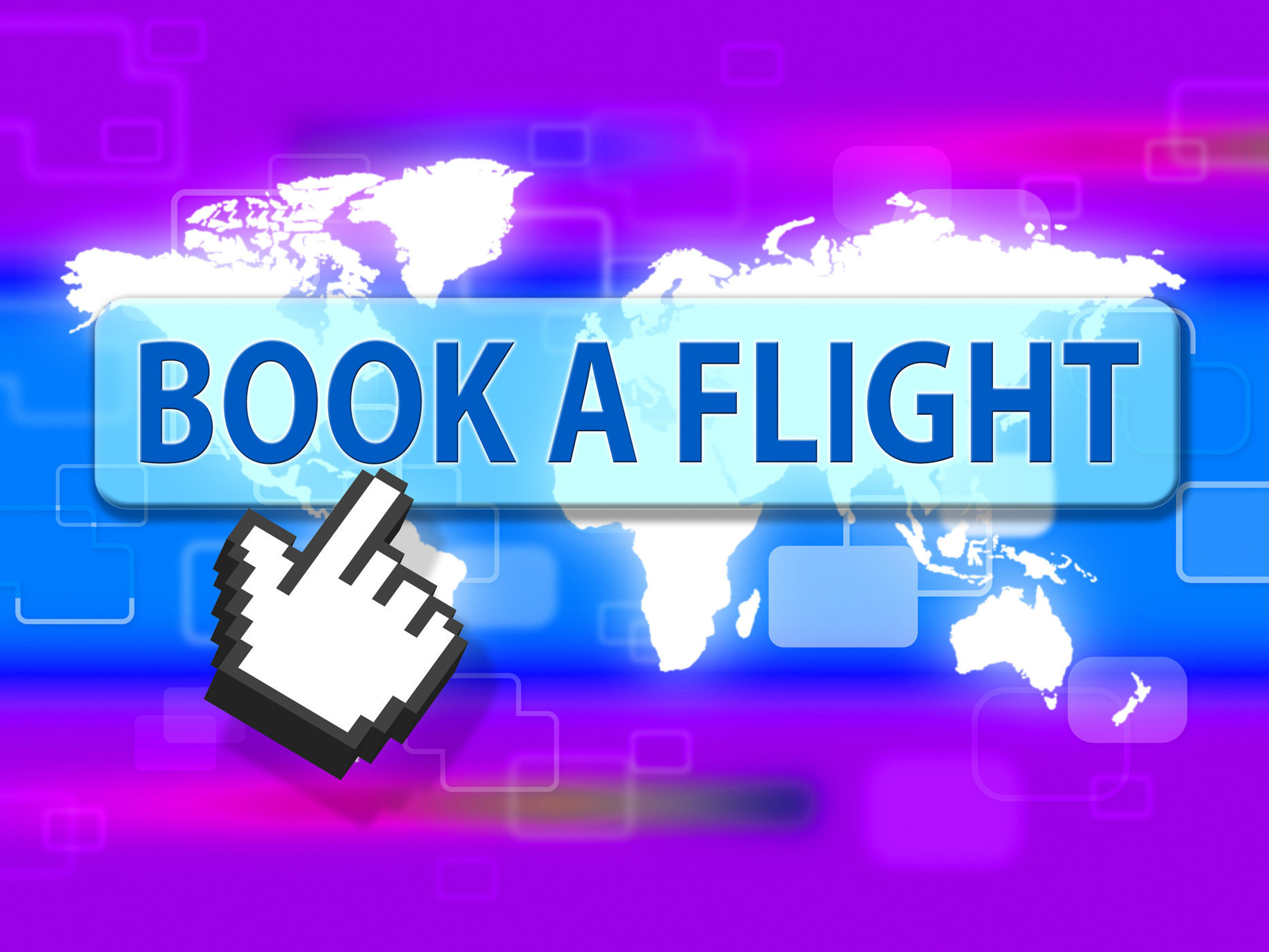 Book flight indicates reserved plane and travel photo
