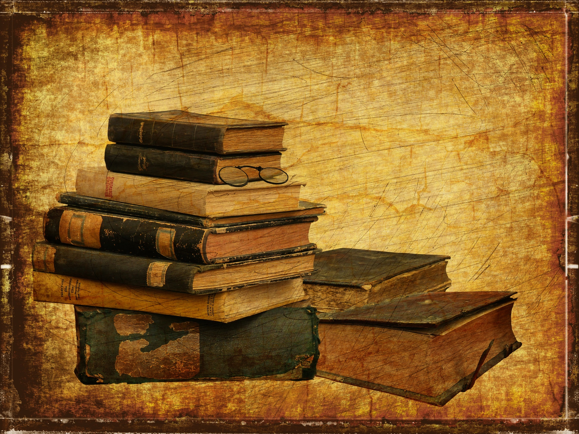 Old Books Vintage Background Free Stock Photo - Public Domain Pictures