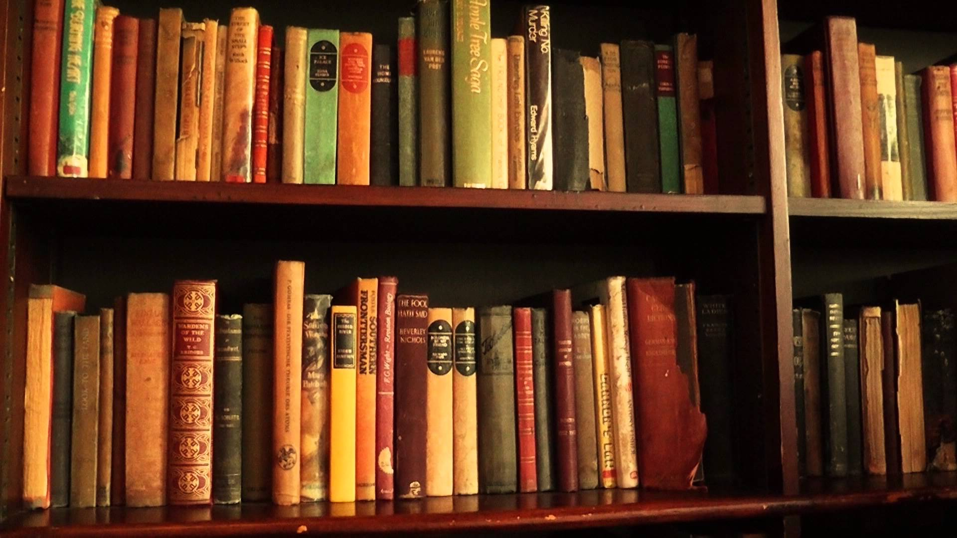 Free Stock Footage - Bookshelf With Old Books 01 - YouTube