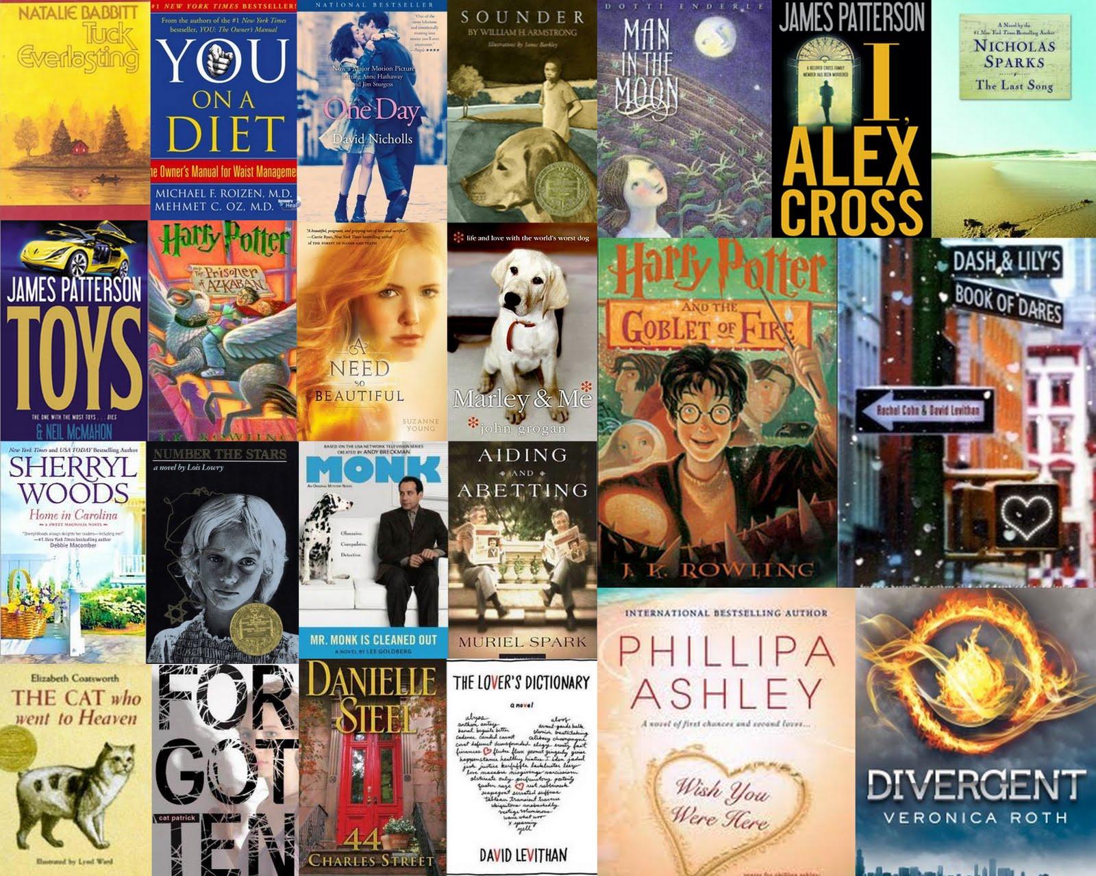 Books collage photo