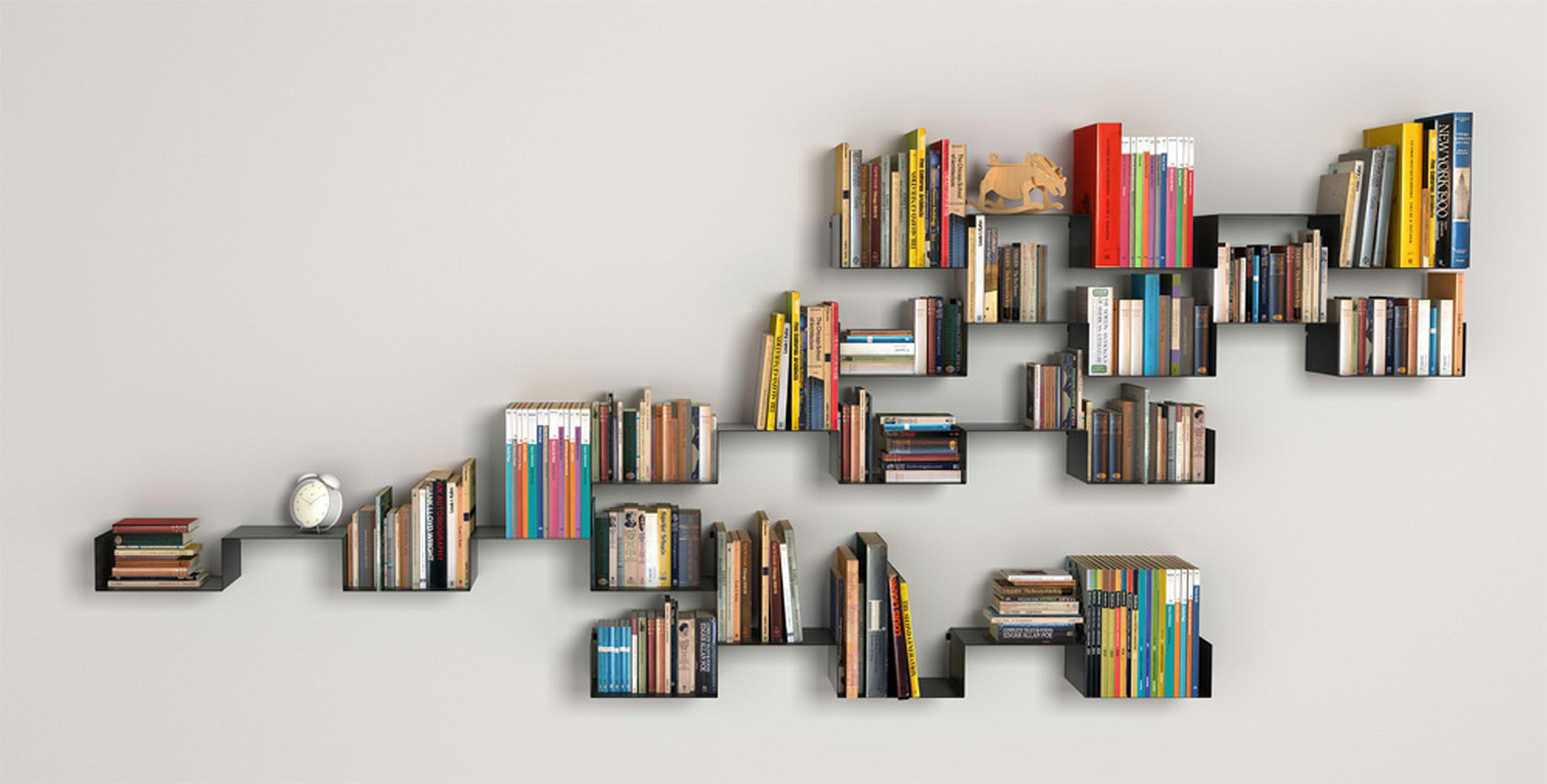 Tasteful Custom Built Modern Wall Shelves For Book Shelf As Well As ...