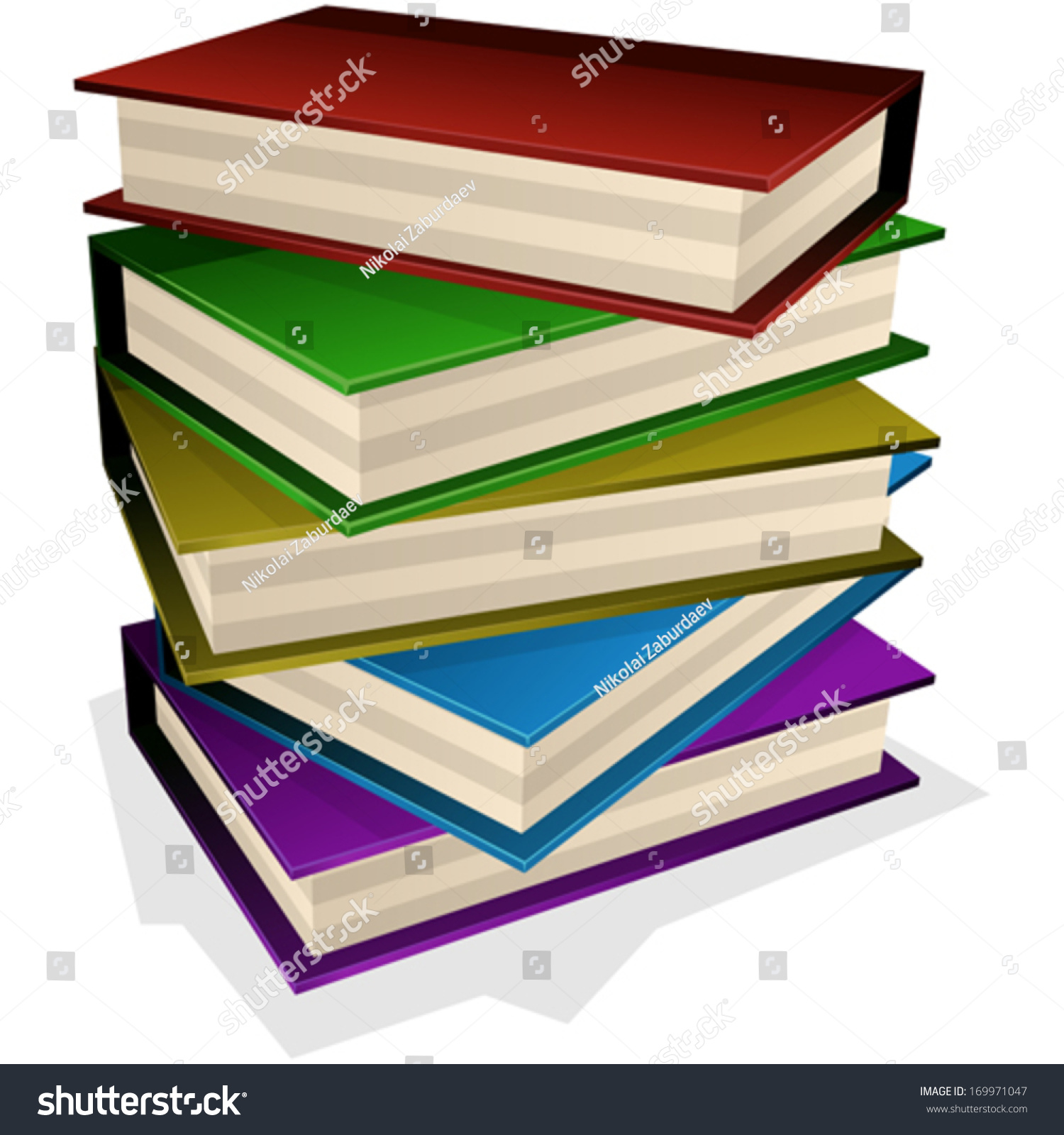 Vector Illustration Pile Books Isolated On Stock Vector 169971047 ...